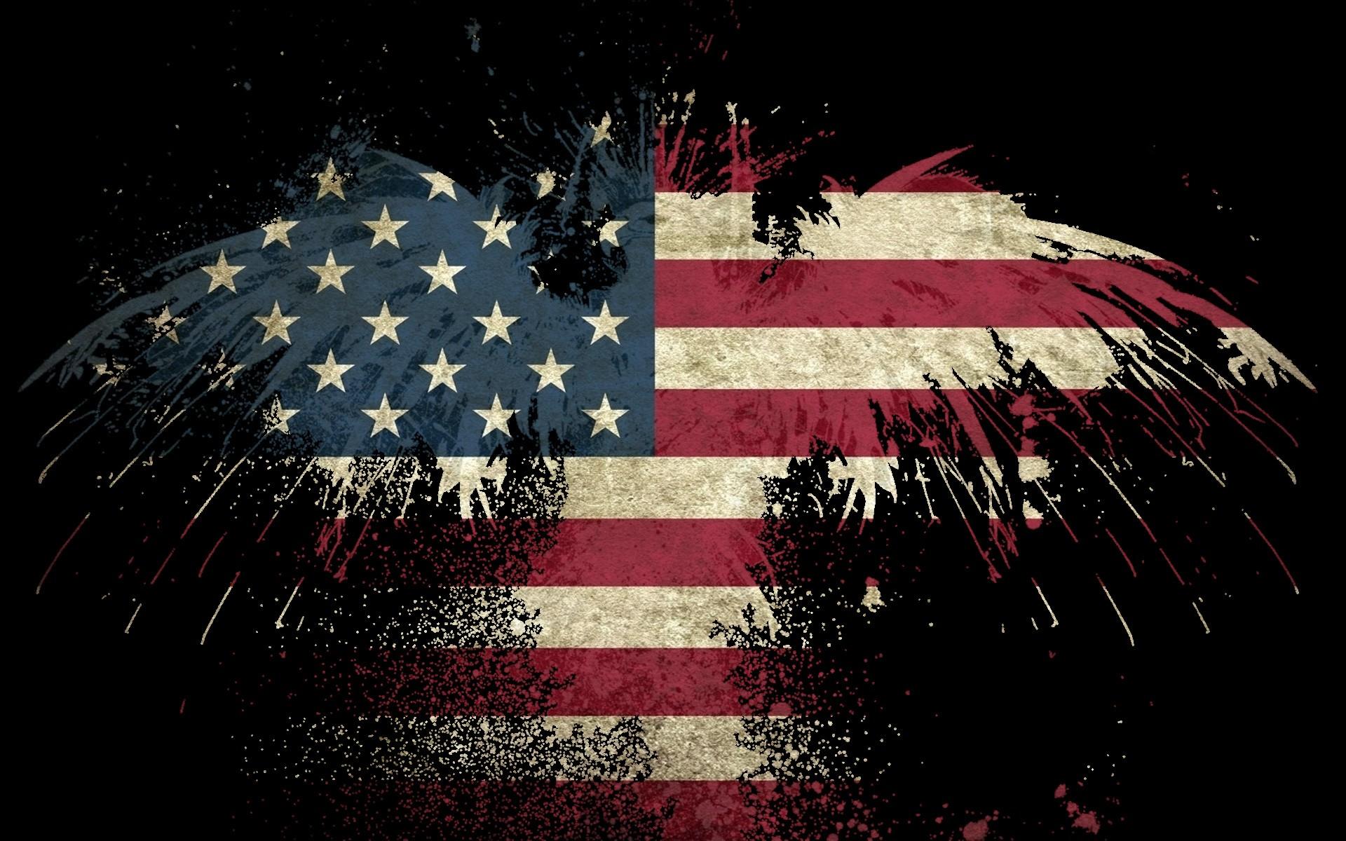 USA America flag eagle wallpaper background