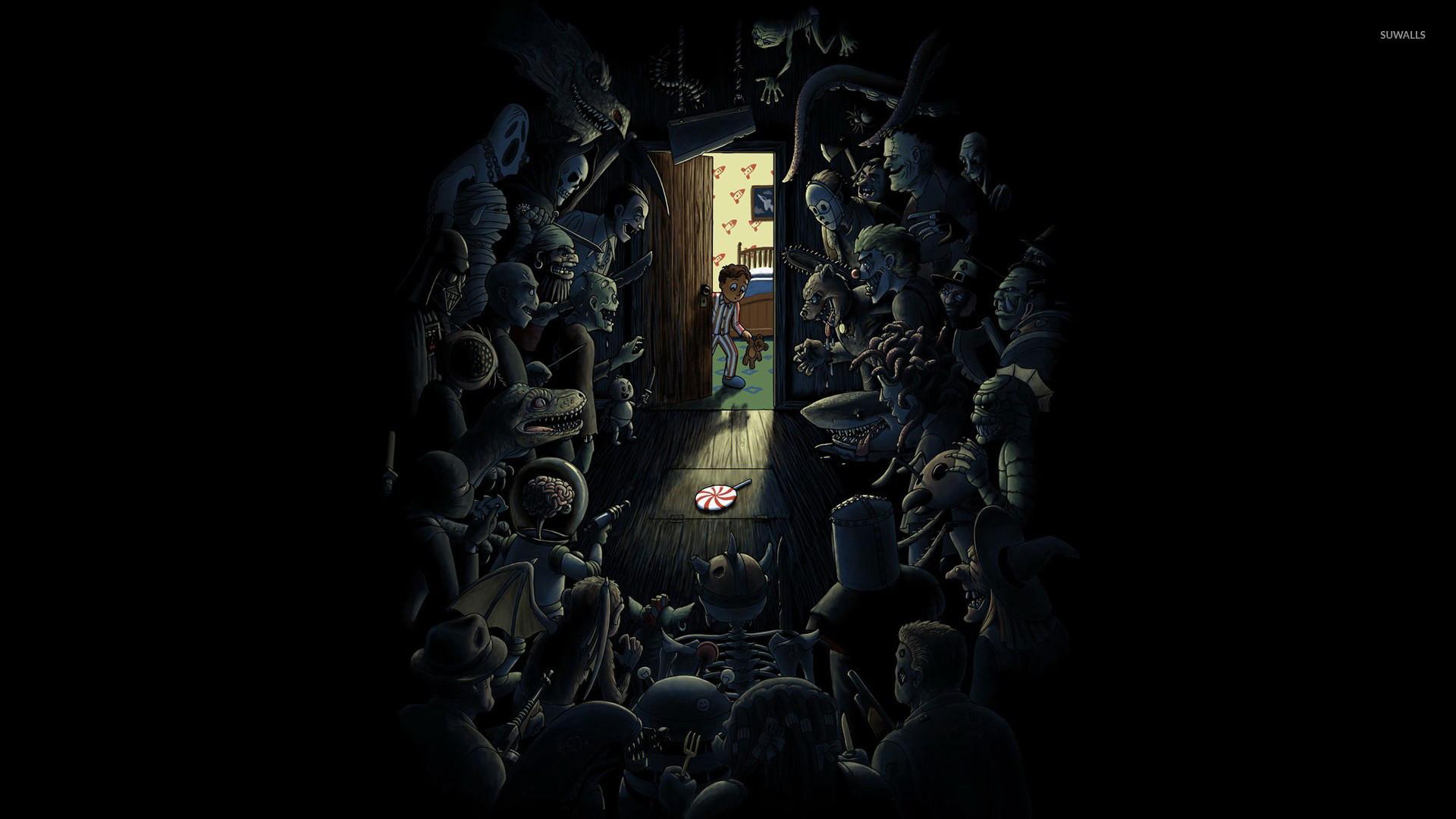 Monsters in the closet wallpaper jpg
