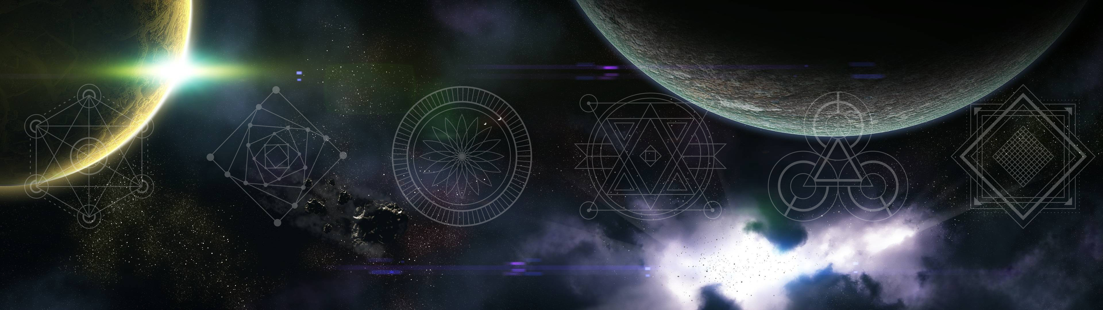Sacred geometry and space wallpapers (part1)