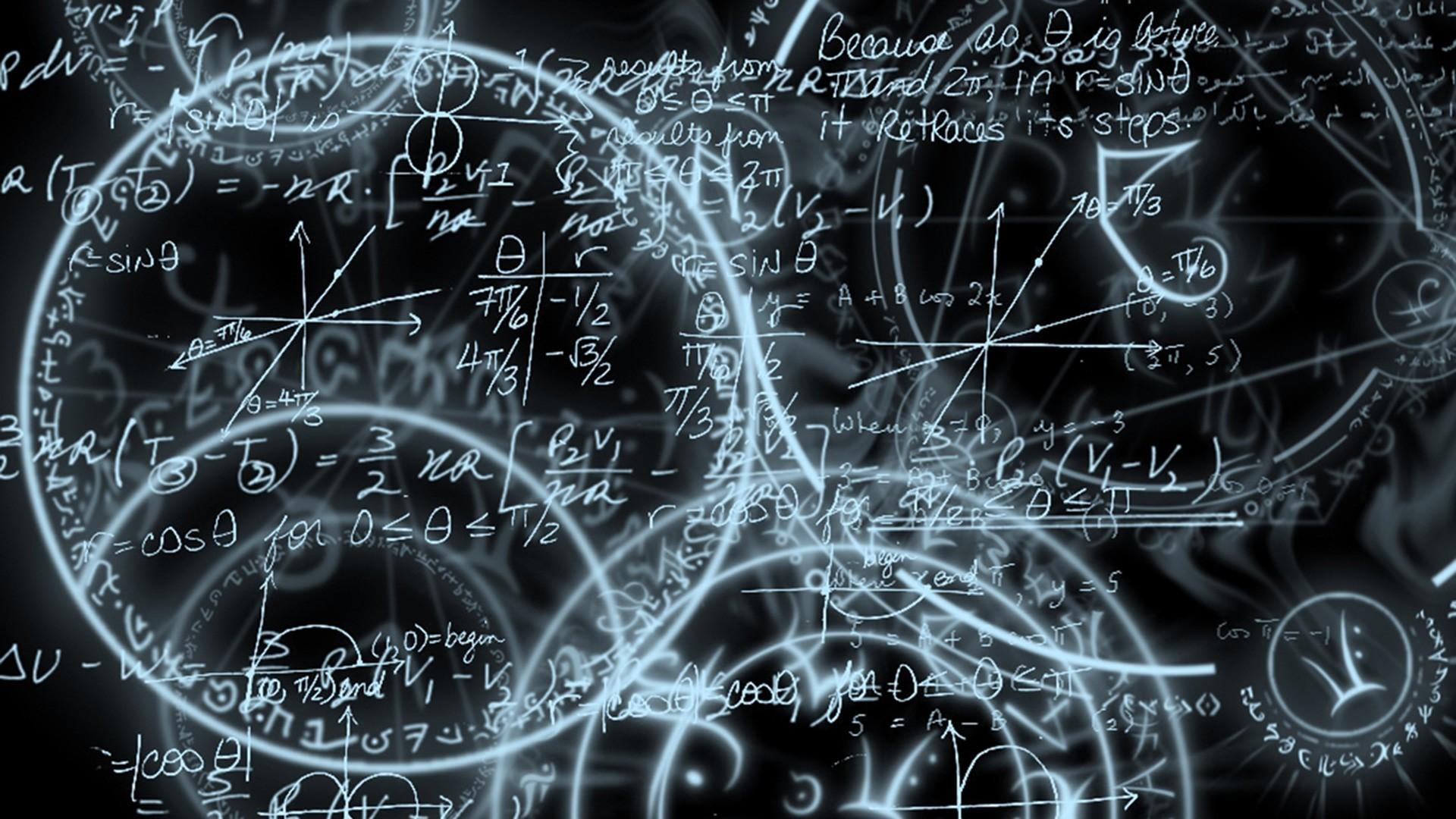 Trigonometry mathematics black and white circles Free HD Wallpaper