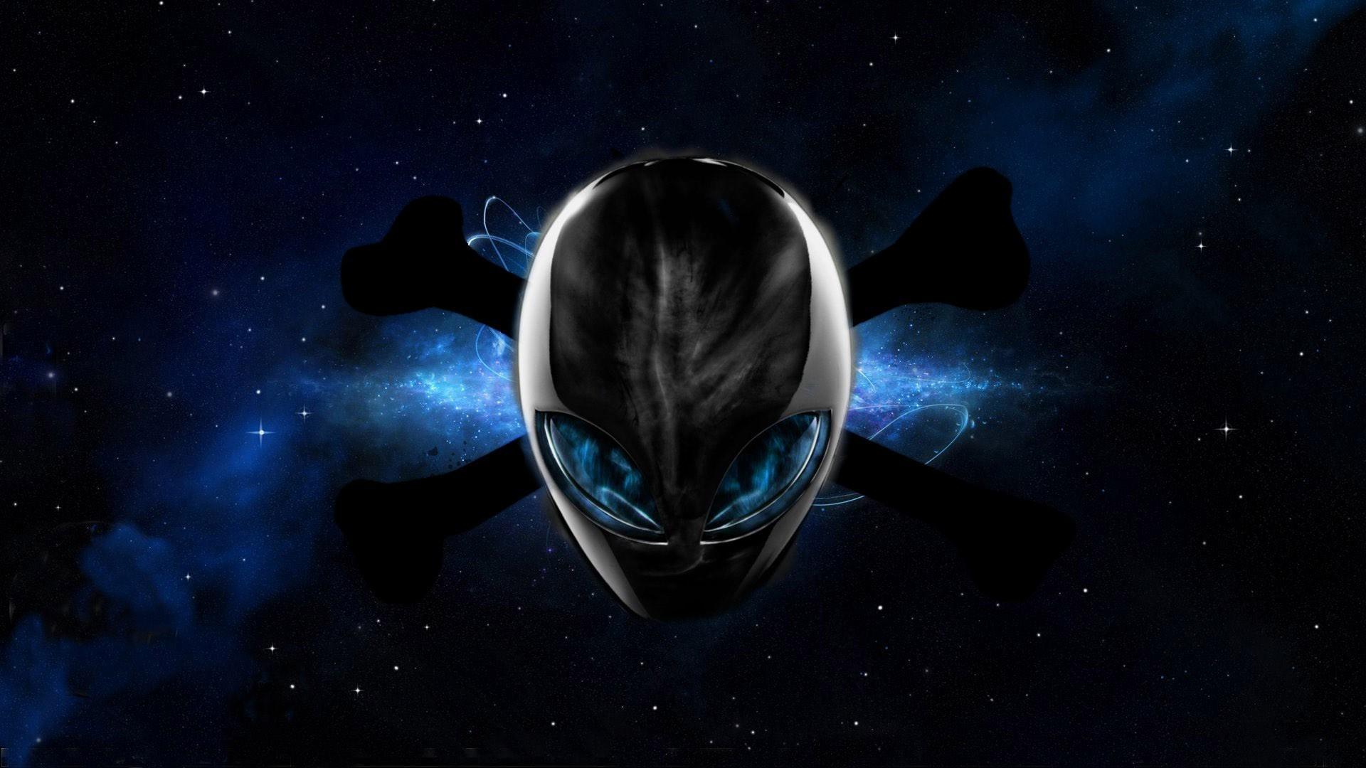 space, Universe, Aliens, Digital Art, Stars, Skull And Bones, Nebula, Alienware  Wallpapers HD / Desktop and Mobile Backgrounds