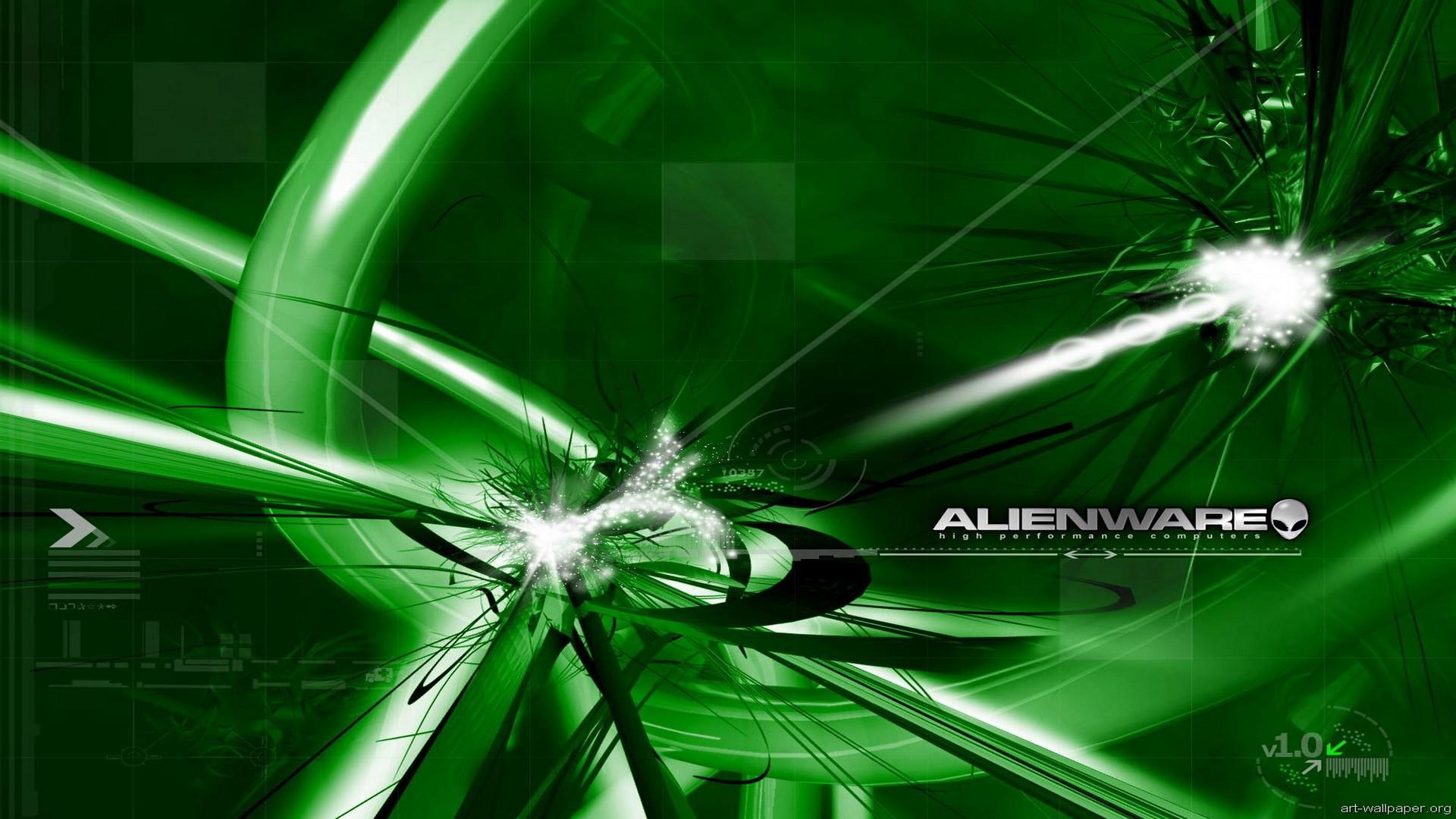Green Alienware wallpaper 148913
