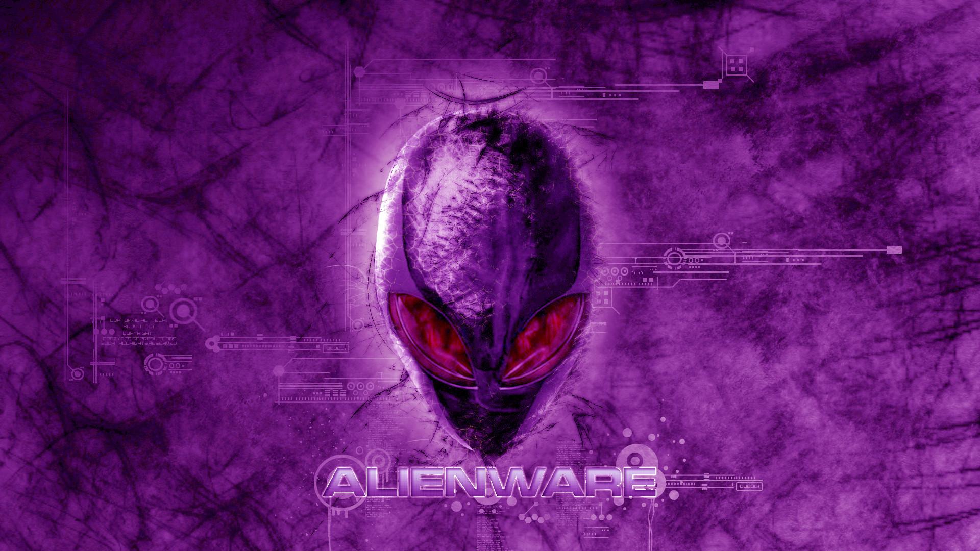 alienware dark violet red eyes logo