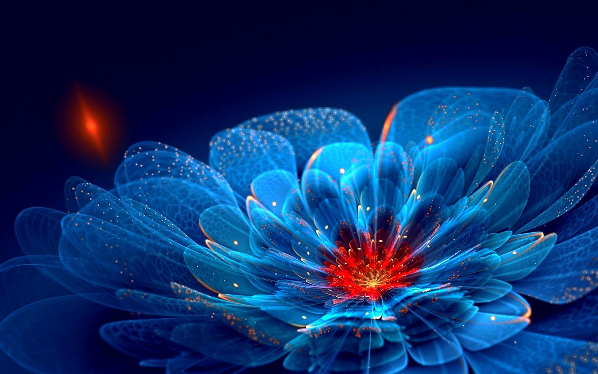 Cool Neon Flowers Wallpaper