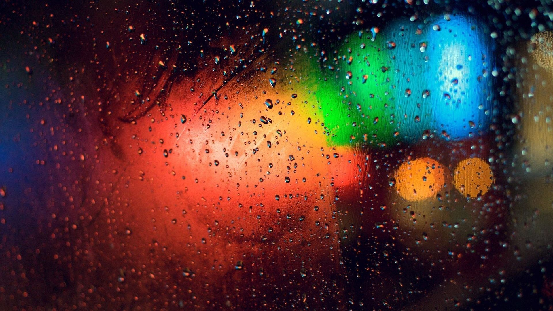 Glass Tag – Panes Glass Window Rain Cool Nature Desktop Backgrounds for HD  16:9