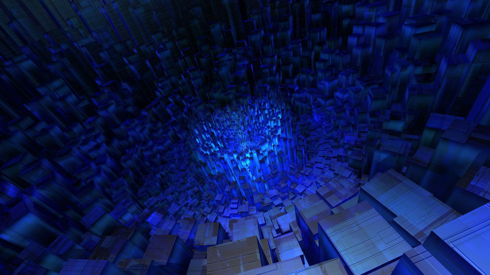 3D Blue Cube Tunnel Wallpaper | HD 3D and Abstract Wallpaper Free Download  …