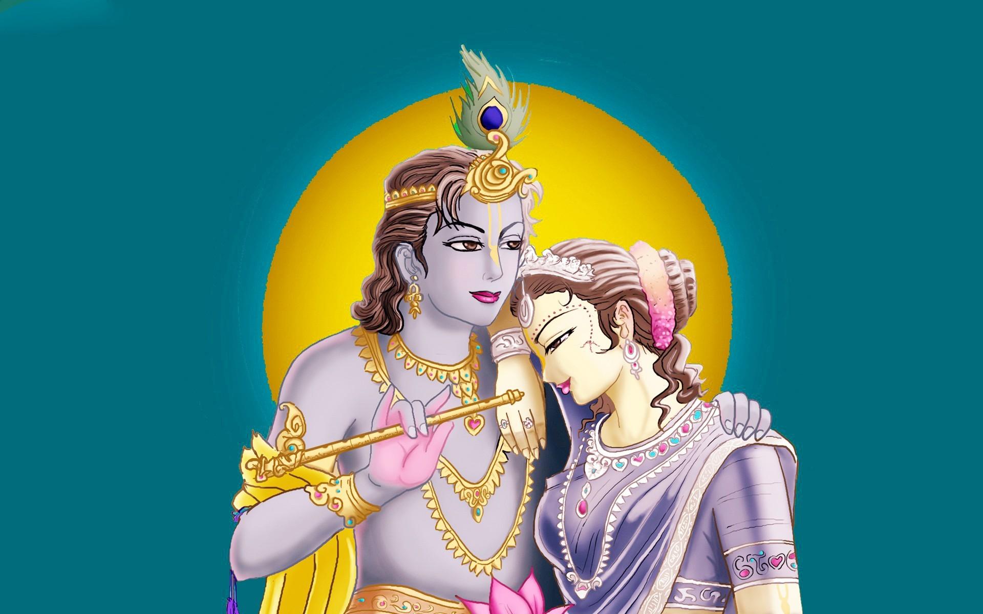 Hindu God Radha Krishna HD