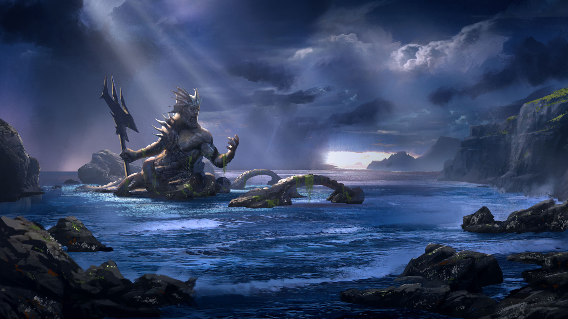 God of War Ascension Poseidon Wallpapers | HD Wallpapers