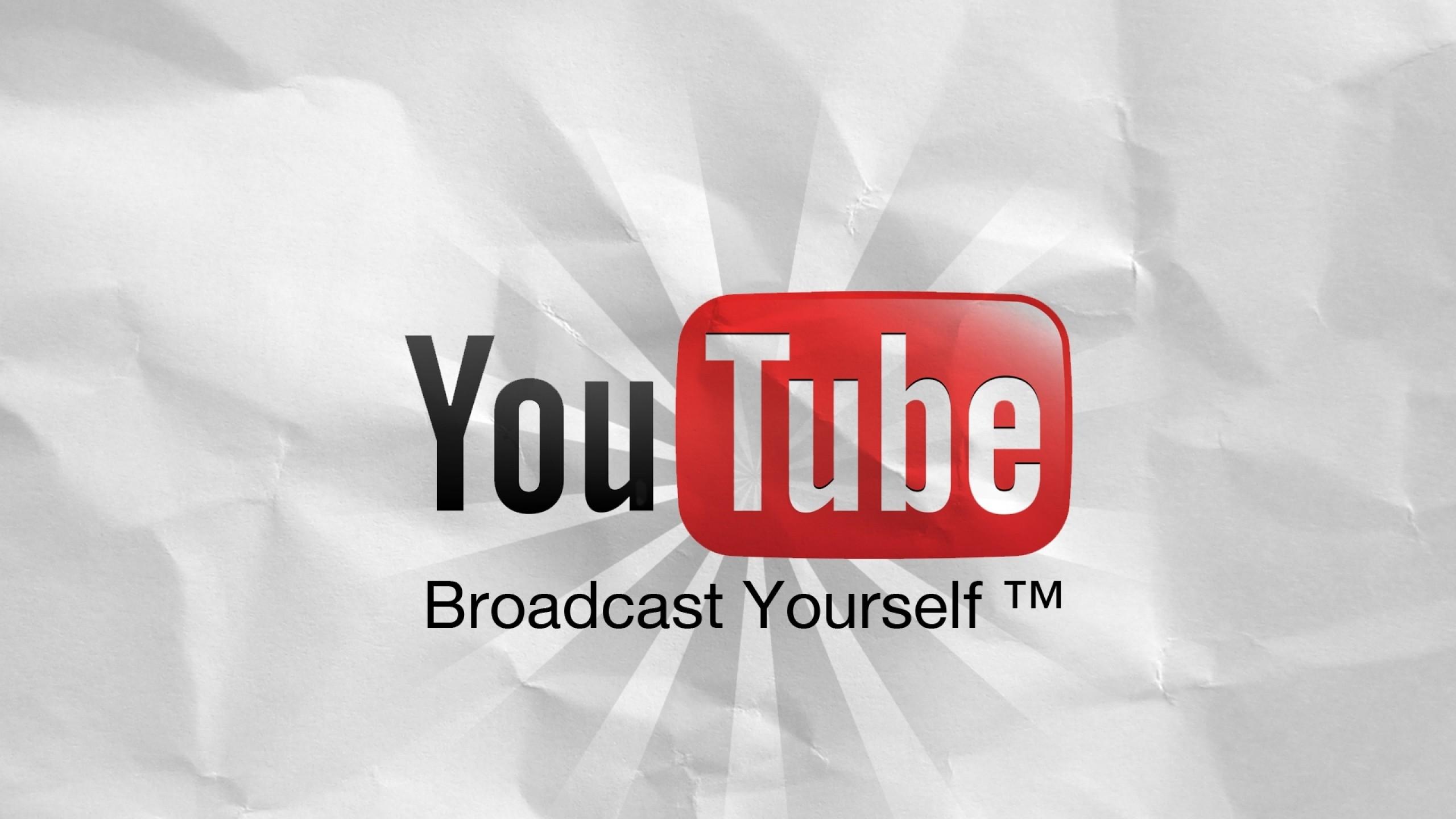 Preview wallpaper youtube, logo, information portal 2560×1440