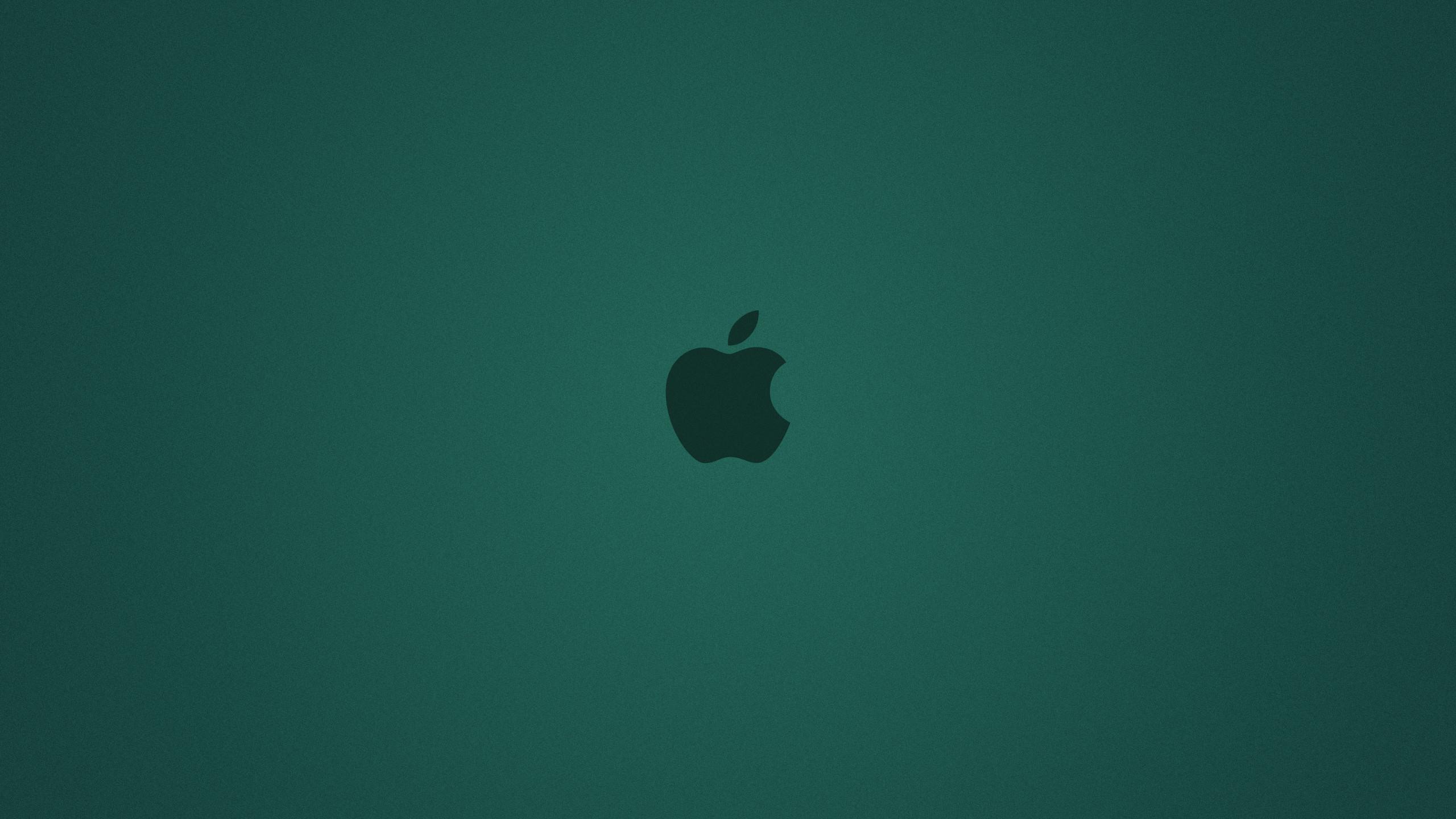 Cyan Apple Background desktop PC and Mac wallpaper