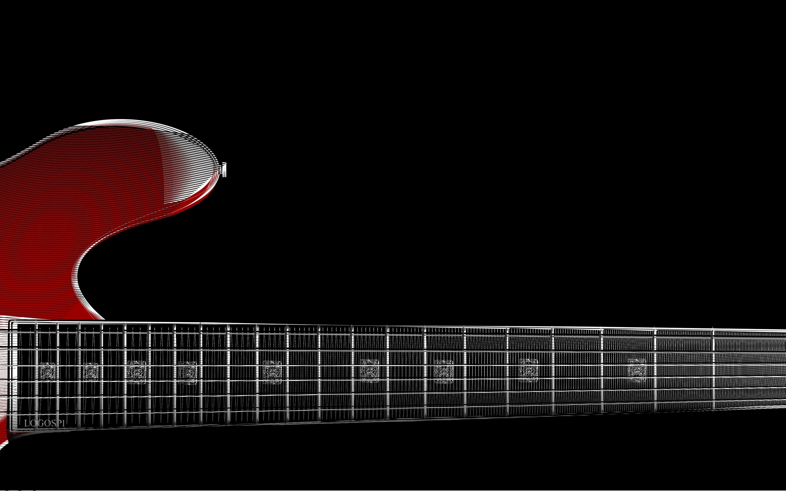 2560×1440 zoom red guitar