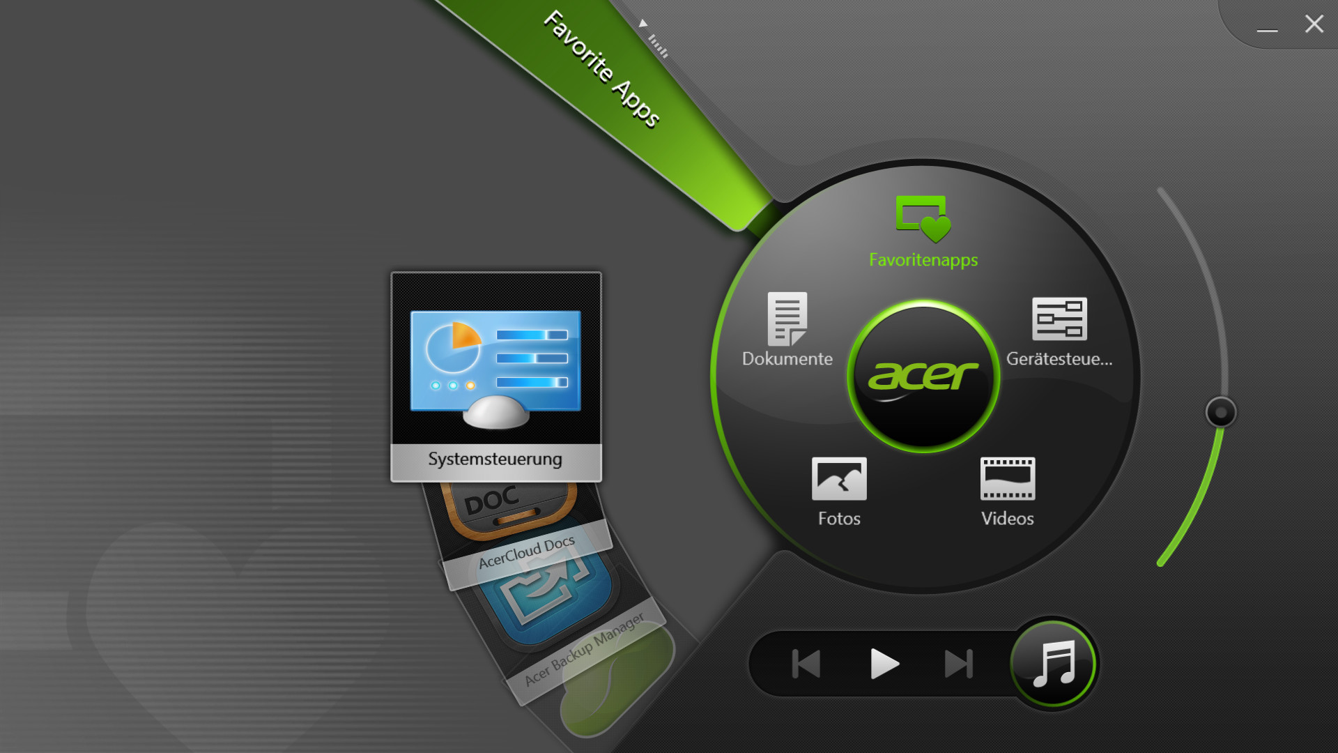 Convenient tool: Acer Ring
