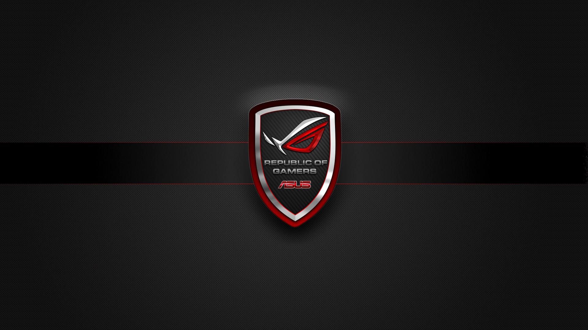 asus rog (republic of gamers) badge logo hd. 1080p wallpaper .