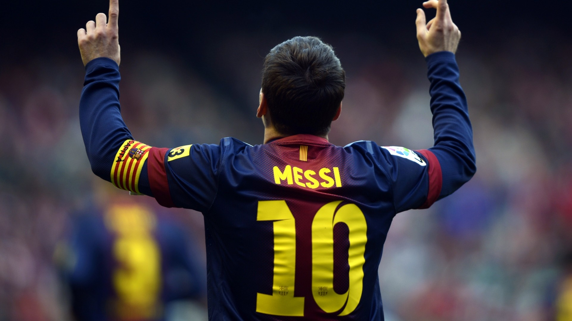 … Background Full HD 1080p. Wallpaper lionel messi, player,  back, shirt