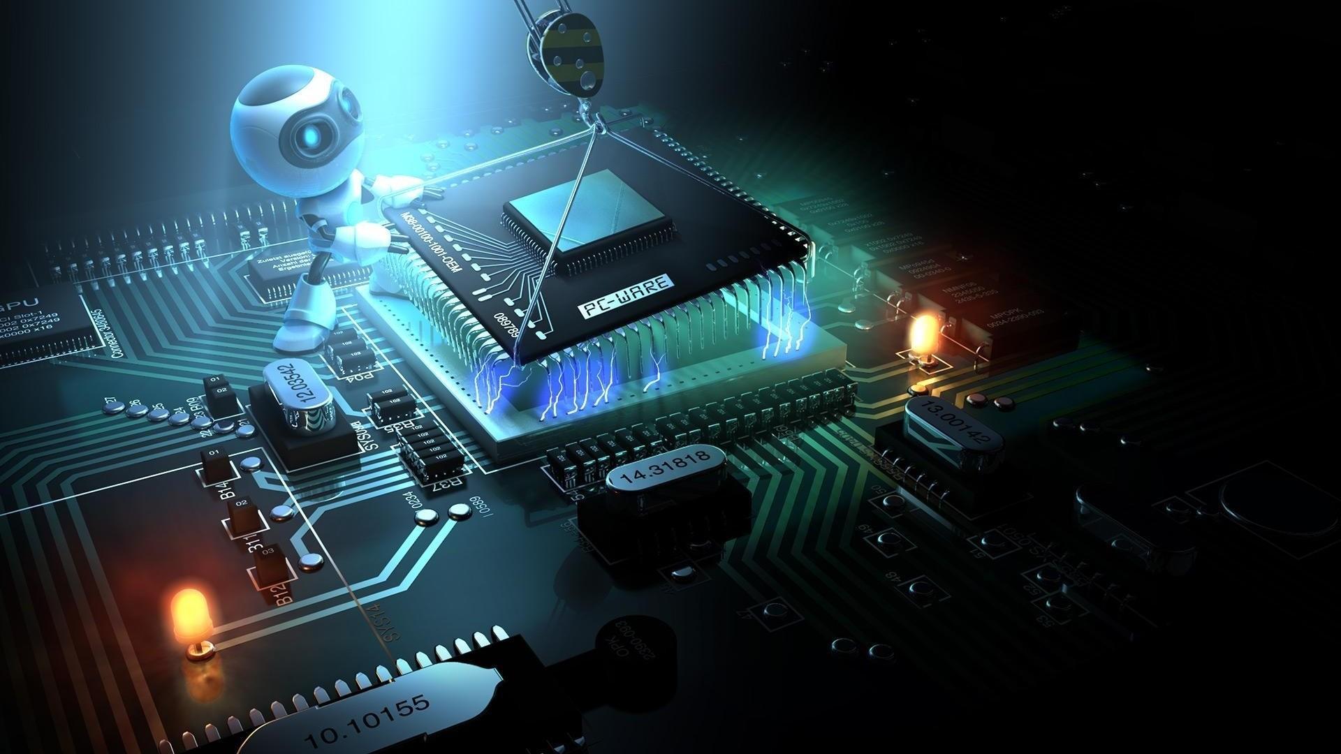 Preview wallpaper processor, cpu, upgrade, installation, chip, robot  1920×1080