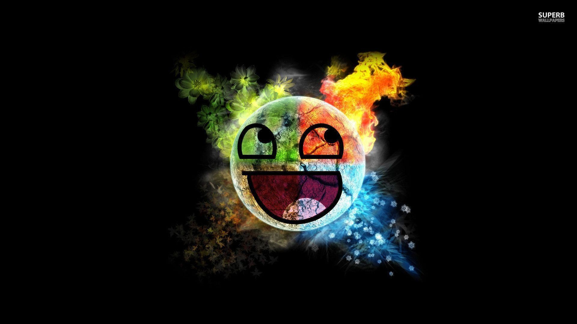 Colorful Awesome Face wallpaper – Meme wallpapers – #