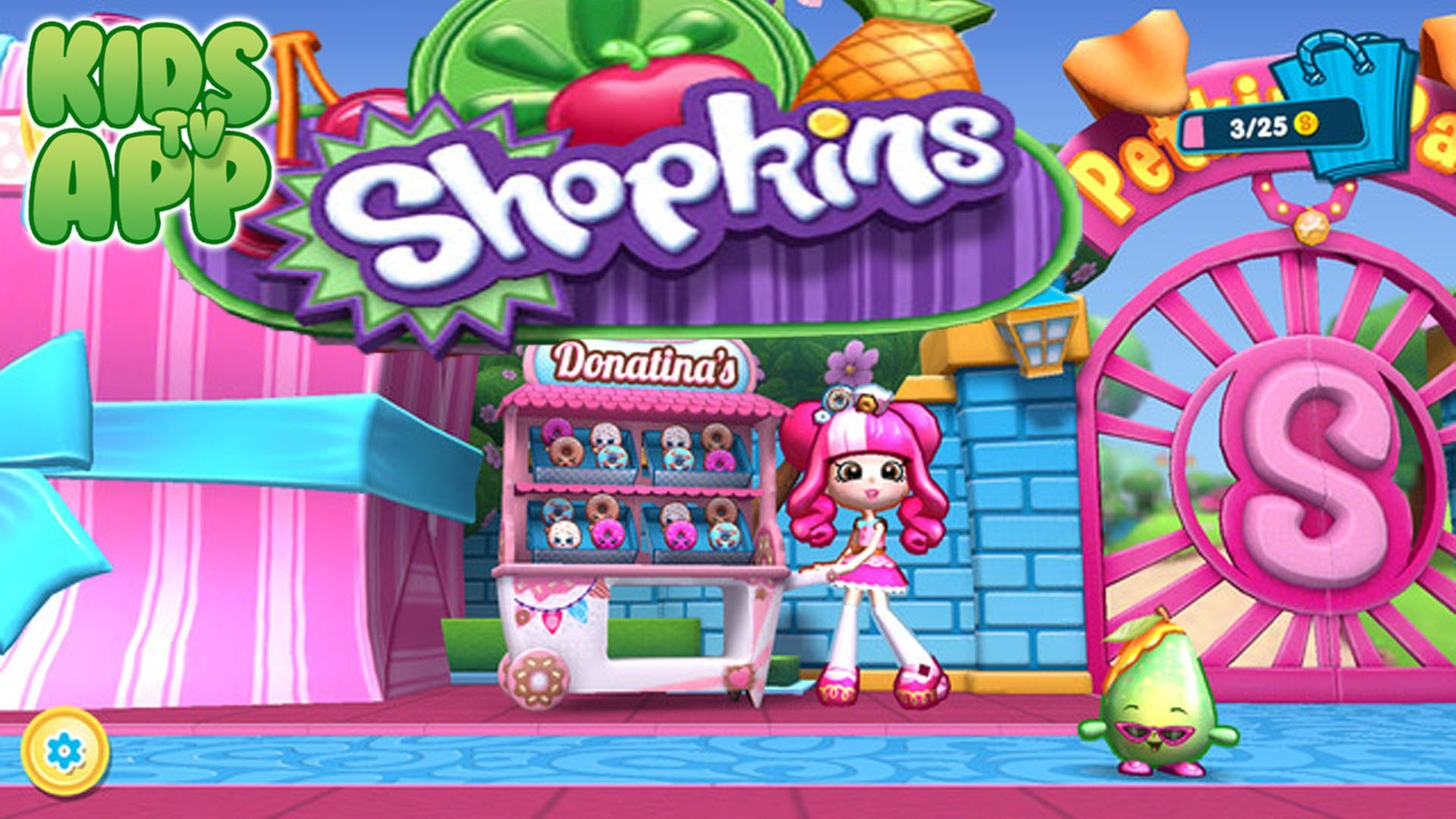 Shopkins: Welcome to Shopville – Meet Donatina! (Moose Enterprise) – Best  App For Kids – YouTube