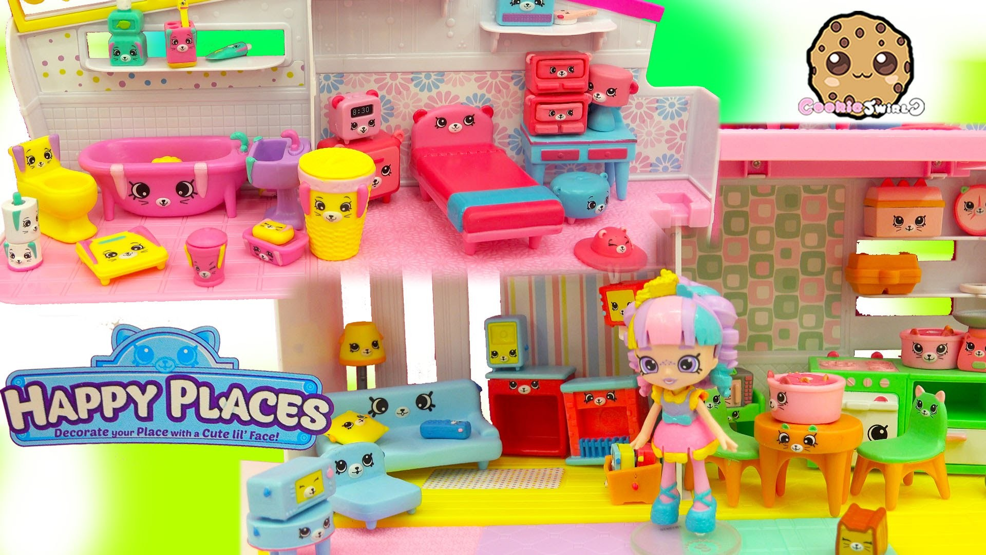 All 4 Shopkins Petkins Decorator's Packs with Blind Bags In Rainbow Kate's  Happy Places Home – YouTube