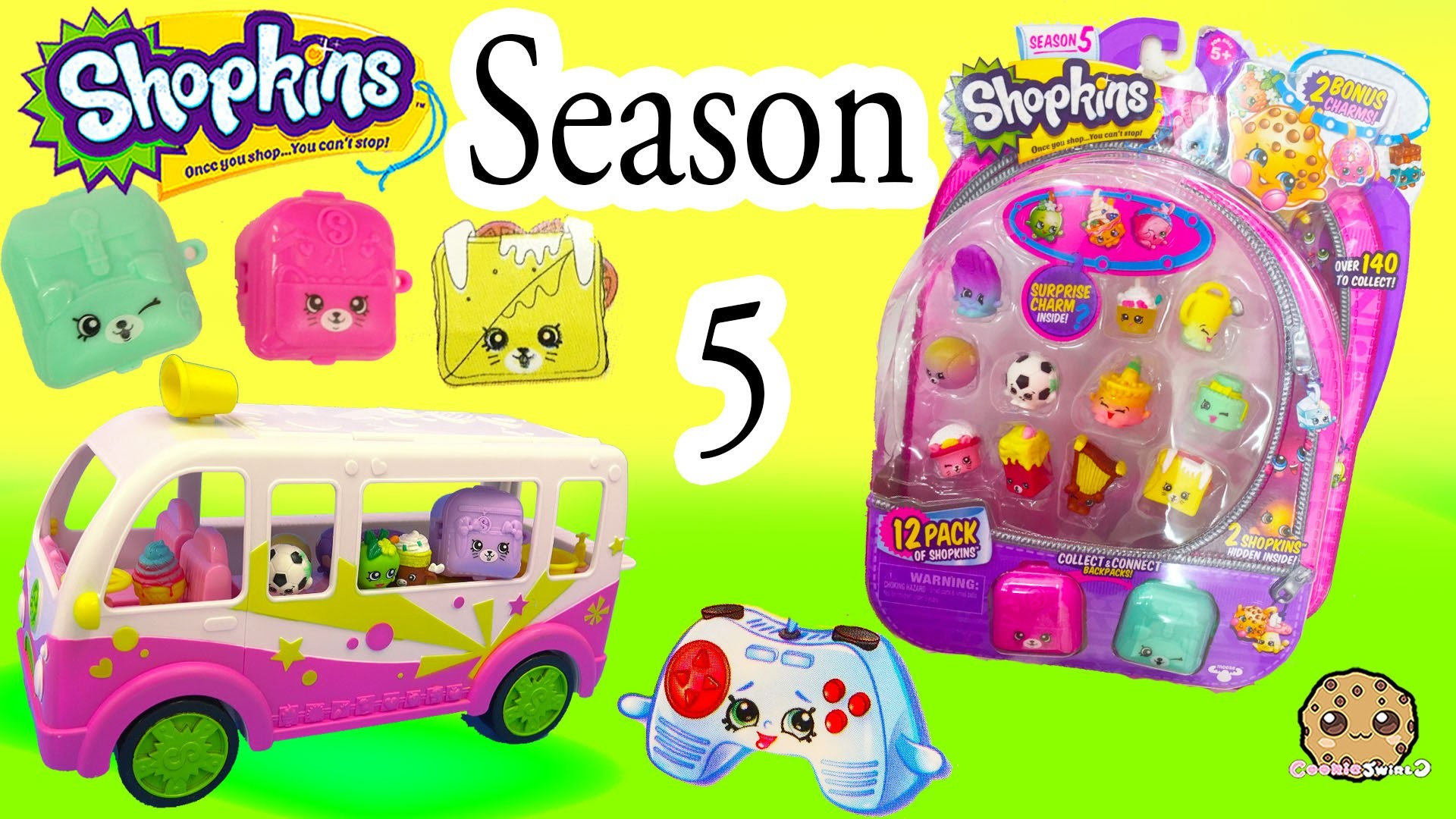 Season 5 Shopkins 12 Pack with Glow In The Dark Surprise Blind Bag + Charms  – Video Cookieswirlc – YouTube
