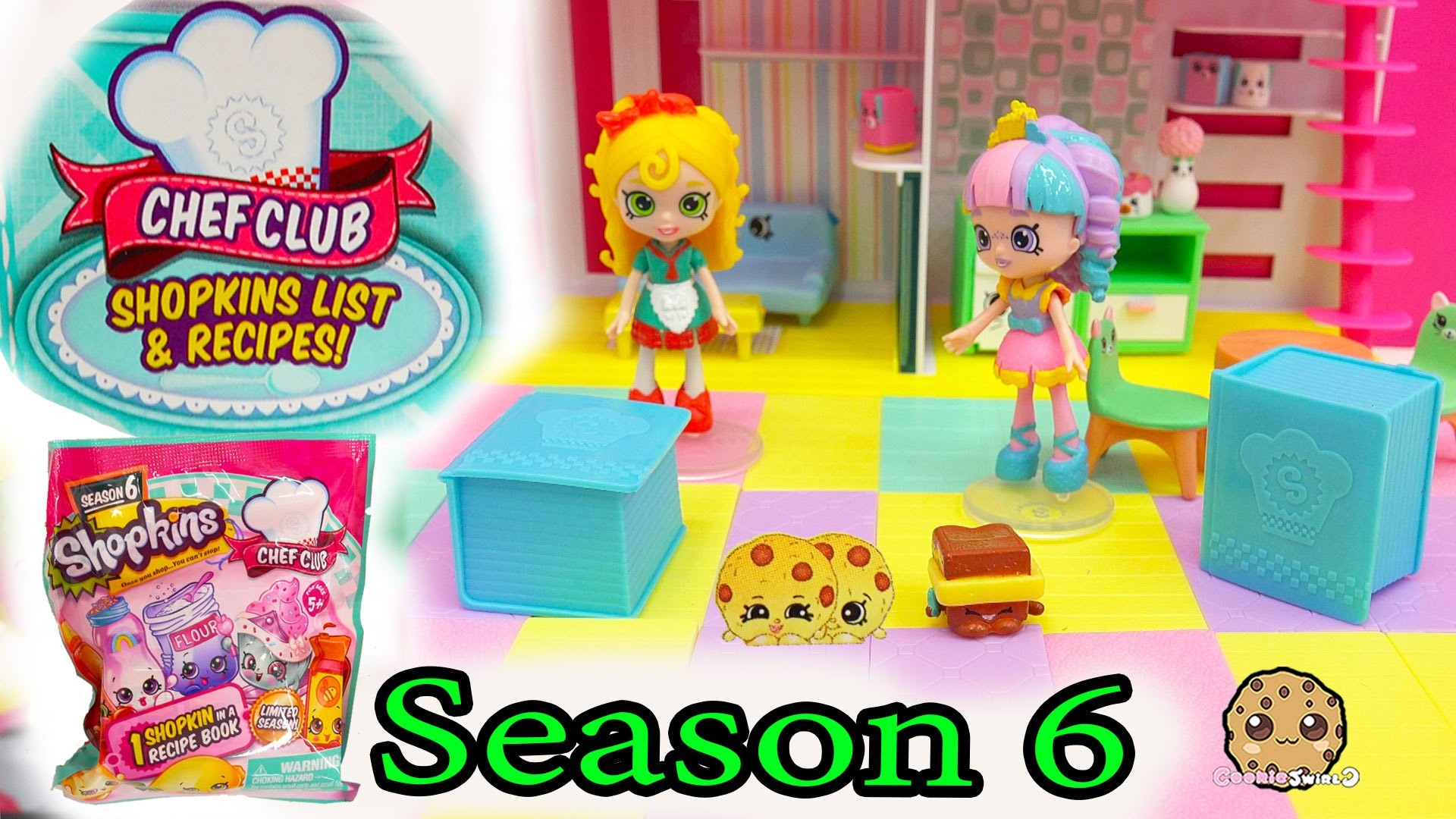 2 Season 6 Shopkins Chef Club Surprise Blind Bags with Mystery Shopkins  Inside Recipe Book – YouTube