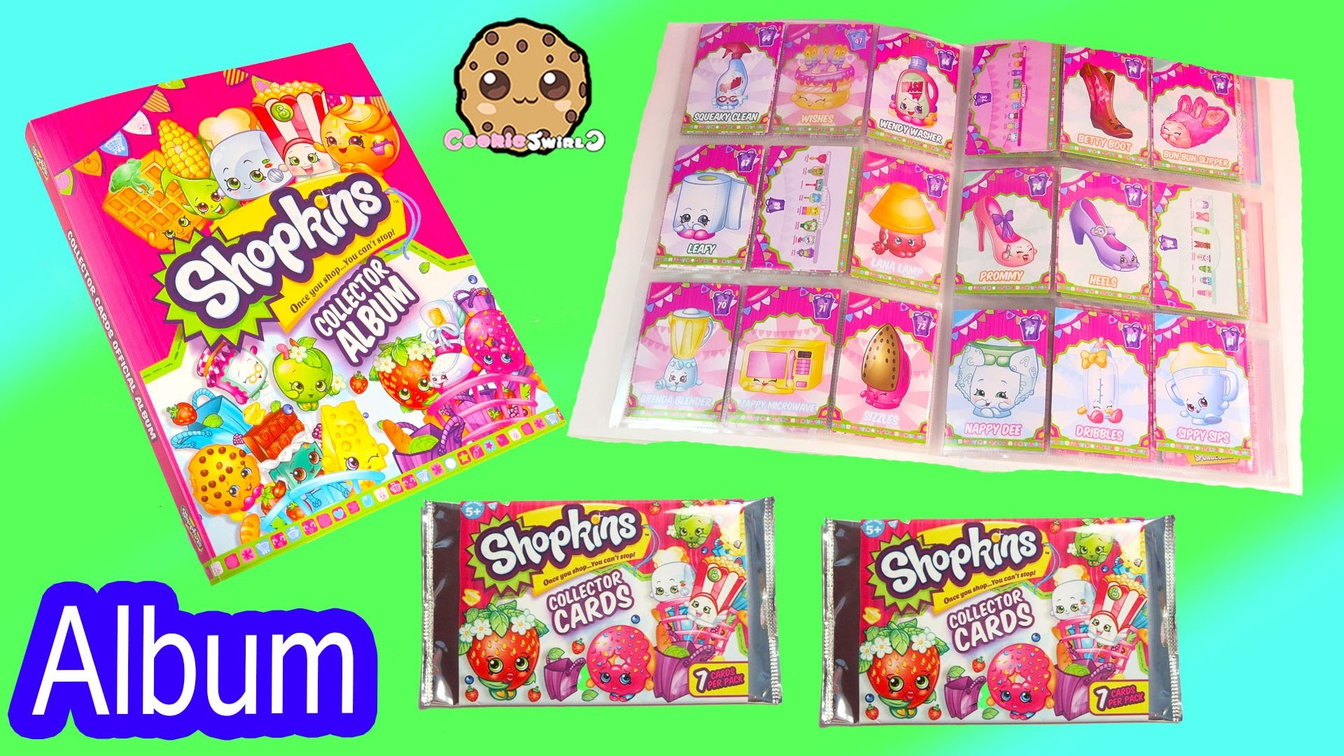Shopkins Collector Cards Album Book with 2 Free Card Surprise Blind Bags –  Unboxing Video – YouTube