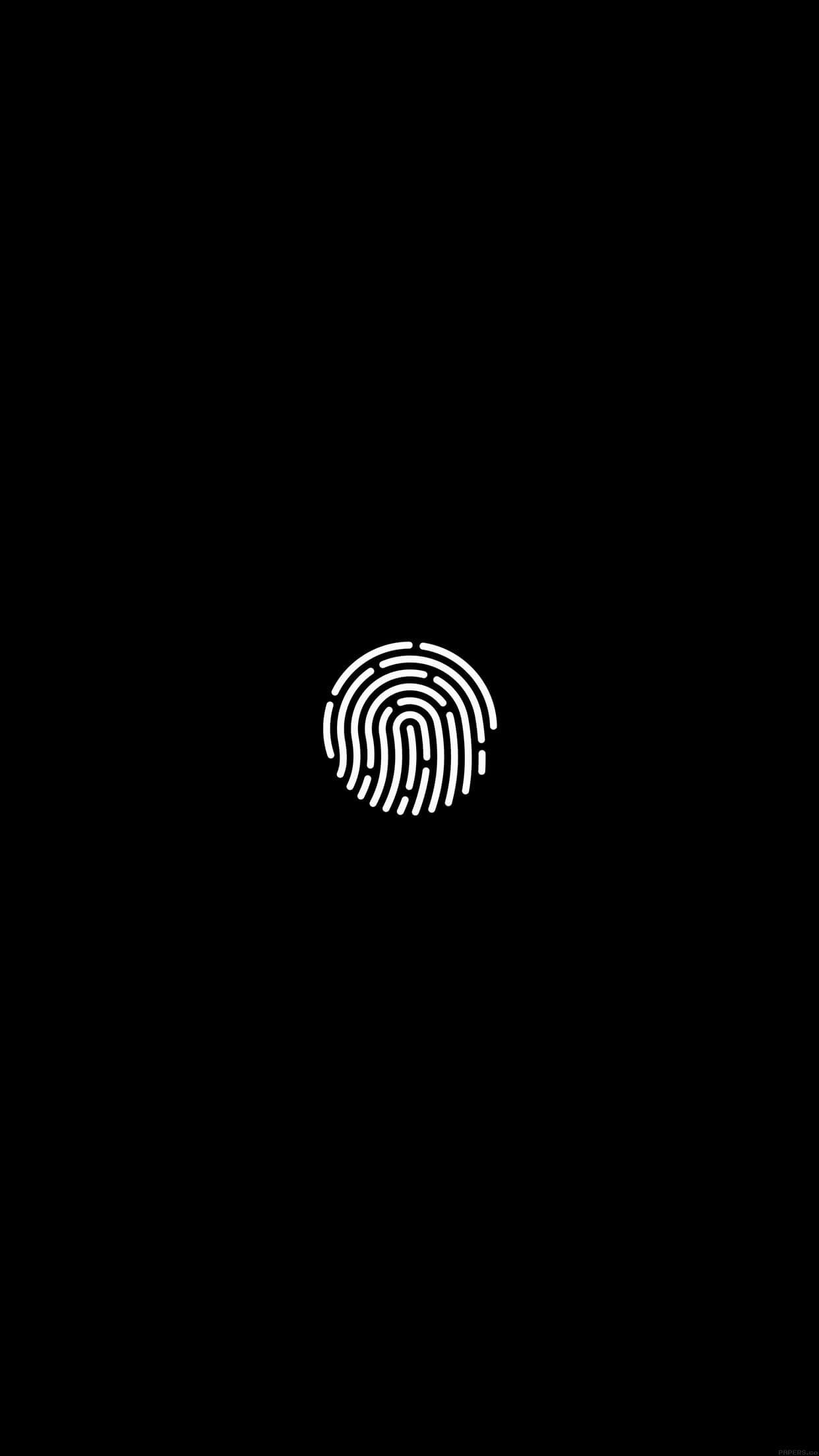 … black and white fingerprint iphone wallpaper …