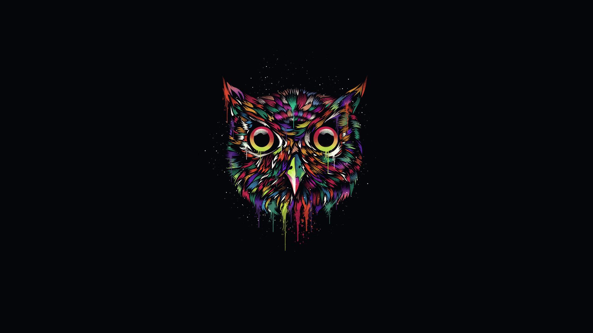 Fonte: Dark-Owl-Wallpapers | Corujas 3D / Fractal | Pinterest .