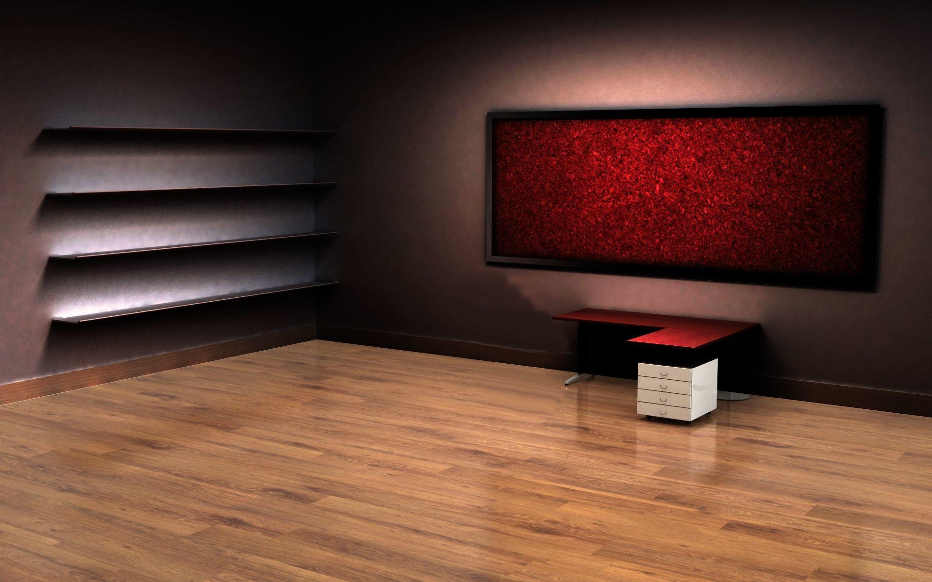 3D Empty Room Desktop Wallpaper