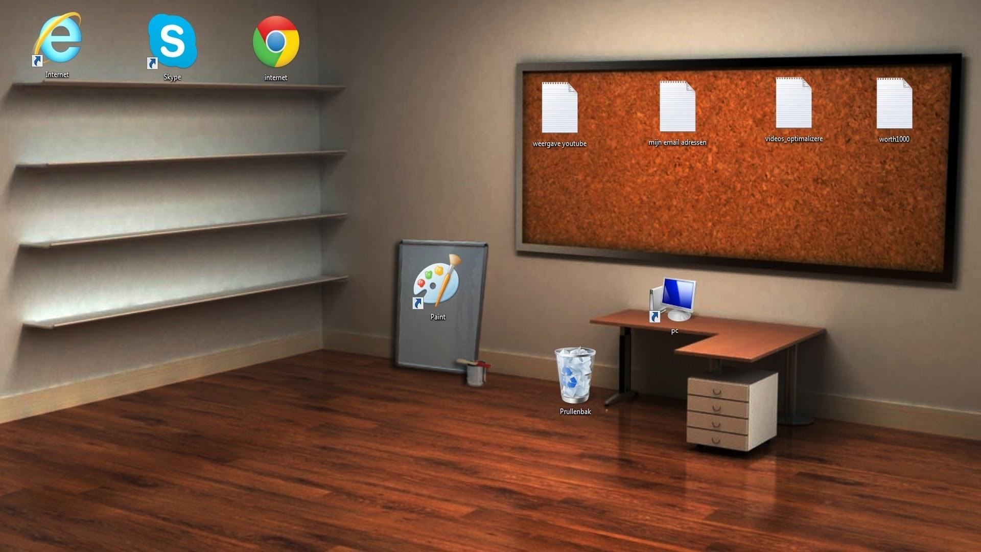 shelf and desk wallpaper …