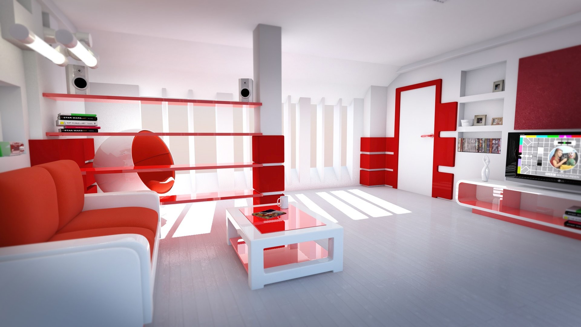 Living Room Shelves Free Desktop Background 38