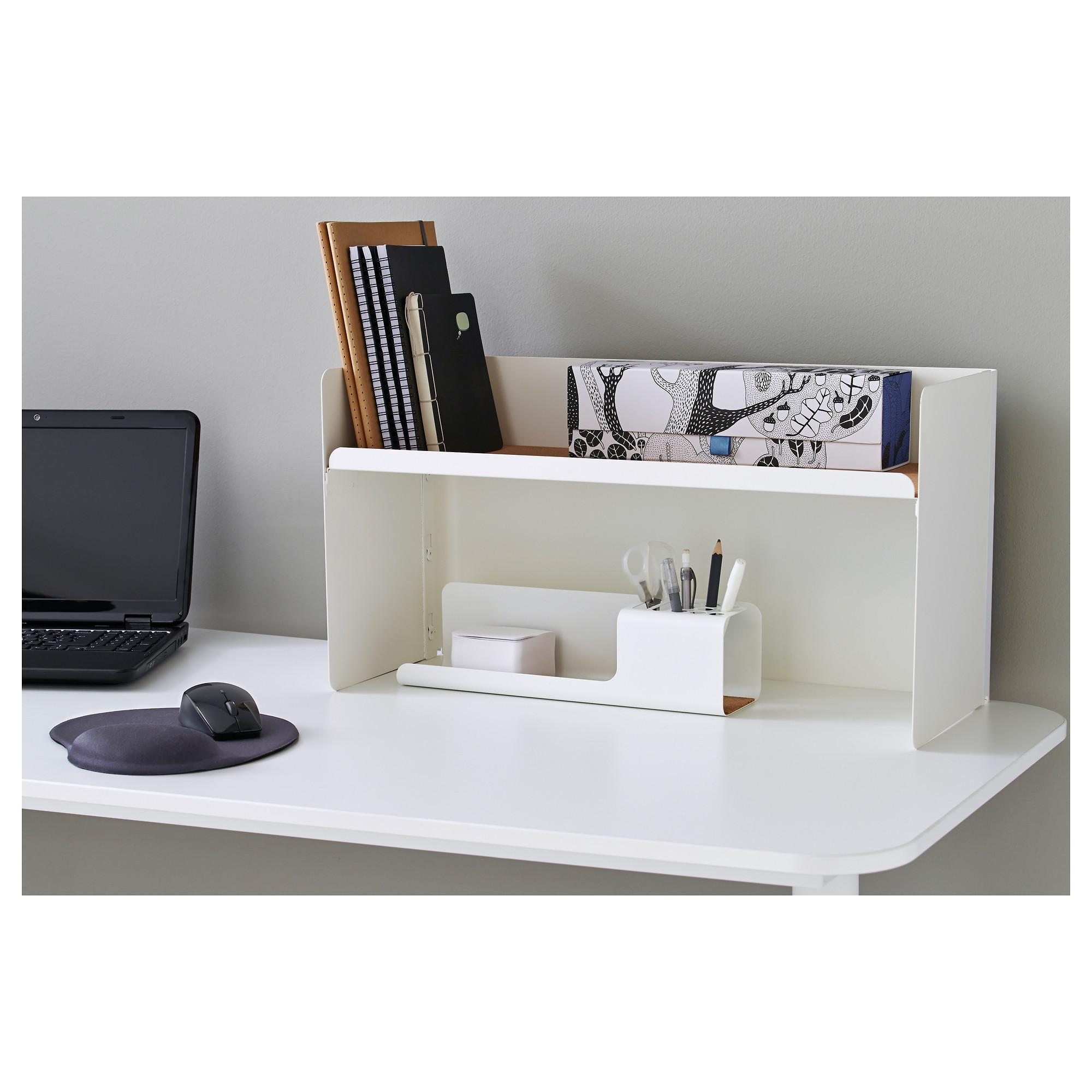 Desk top shelf BEKANT White