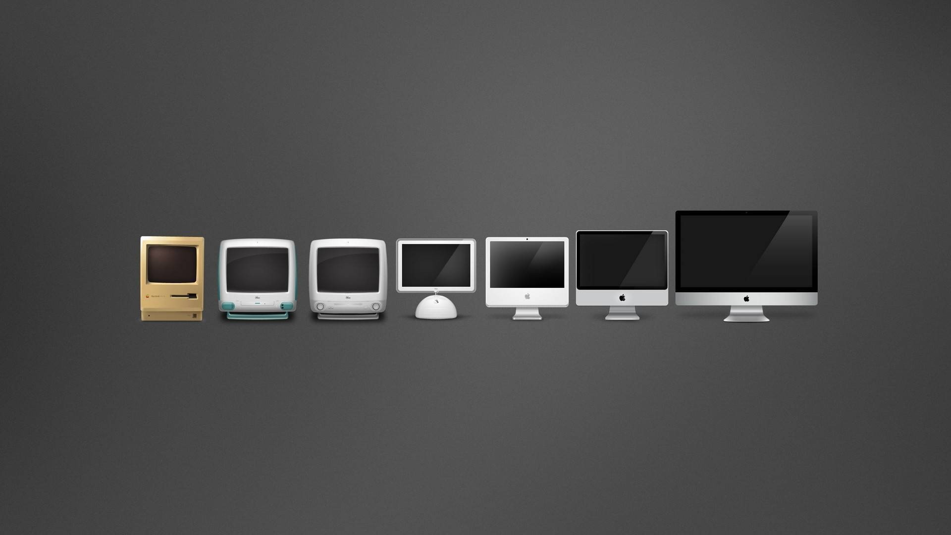Evolution of Mac (From Lifehack's 100 Awesome Minimalist Wallpapers)