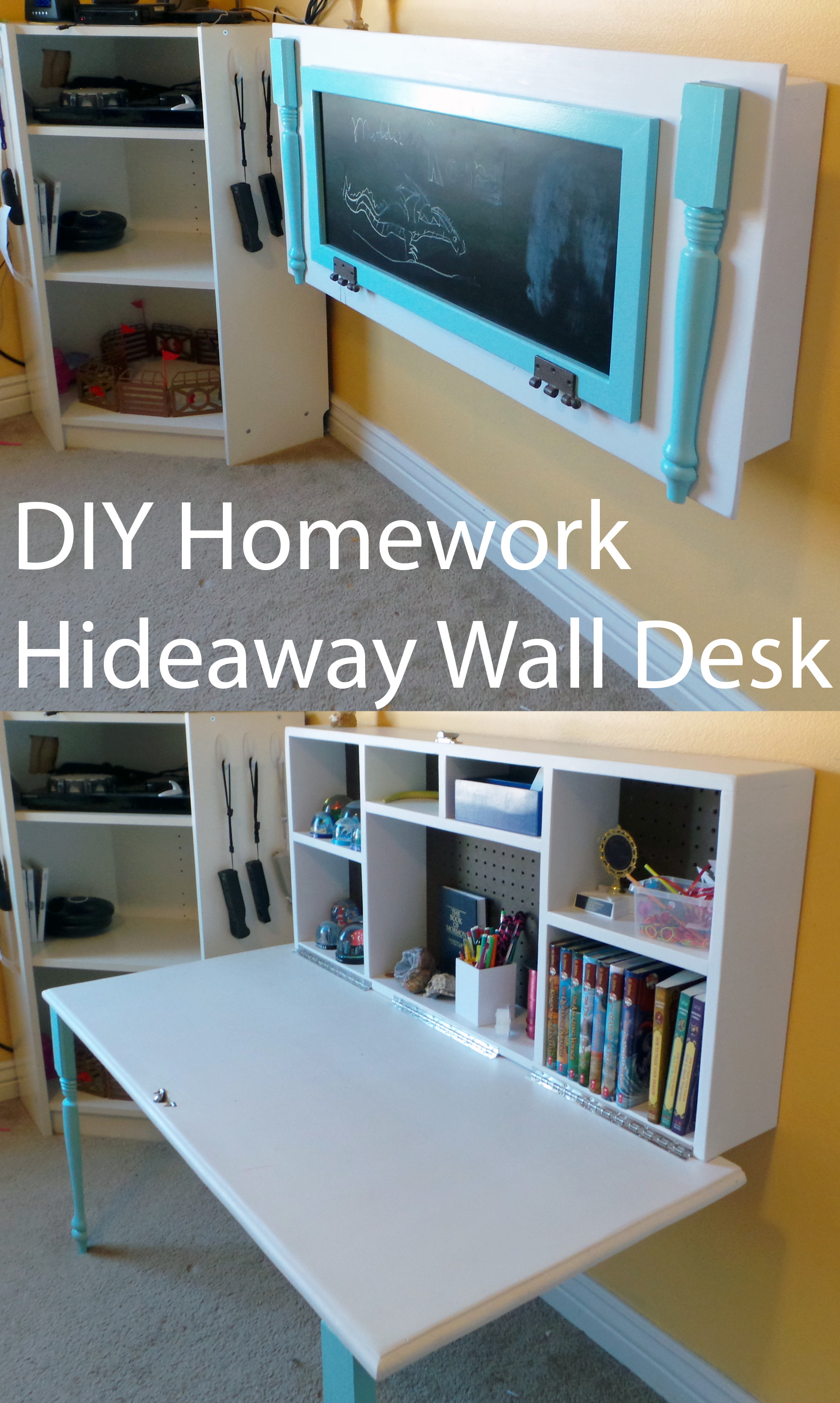 … Uncategorized 47 Incredible Diy Desk Diyomeworkideaway Wall Desk  Uncategorized Kids The Organized Mom Incredible Desktop Wallpaper