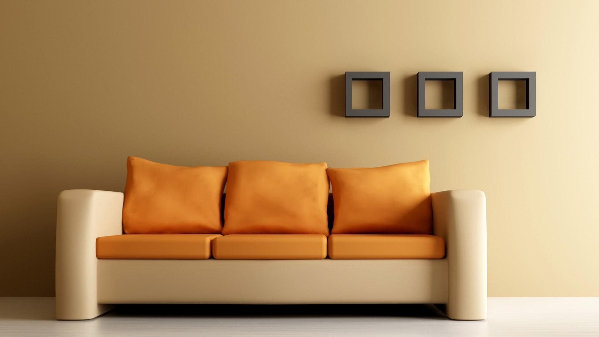Preview wallpaper sofa, shelves, walls, design 1920×1080