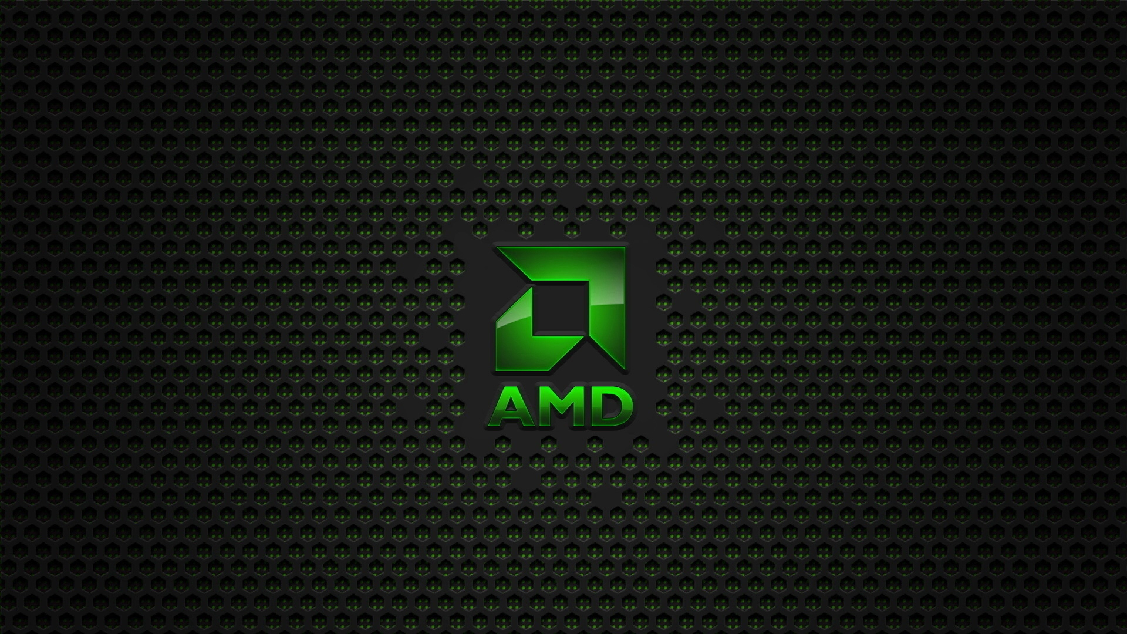 Preview wallpaper amd, brand, computer, logo, background 3840×2160