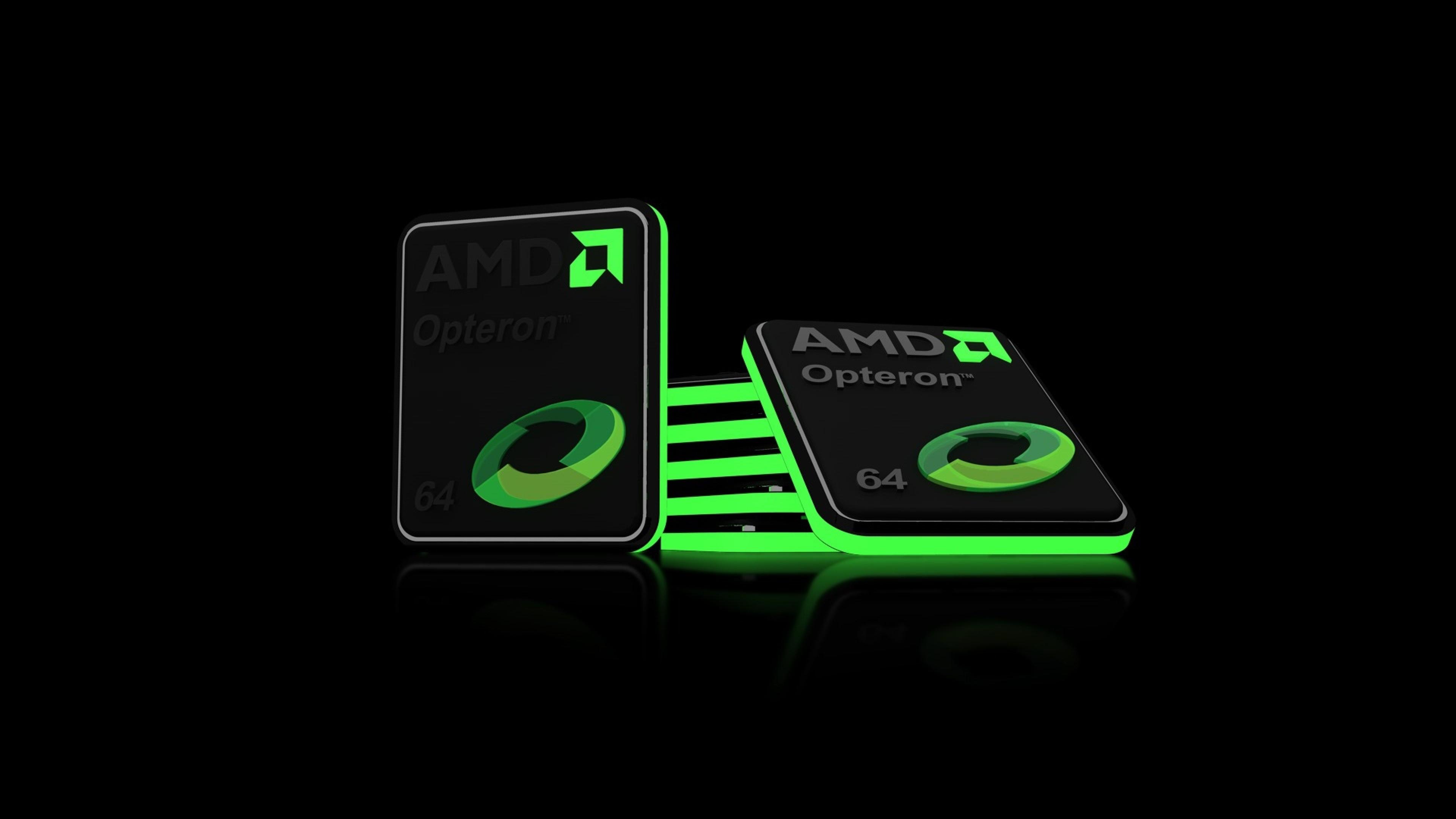 Wallpaper processor, cpu, amd, black, green