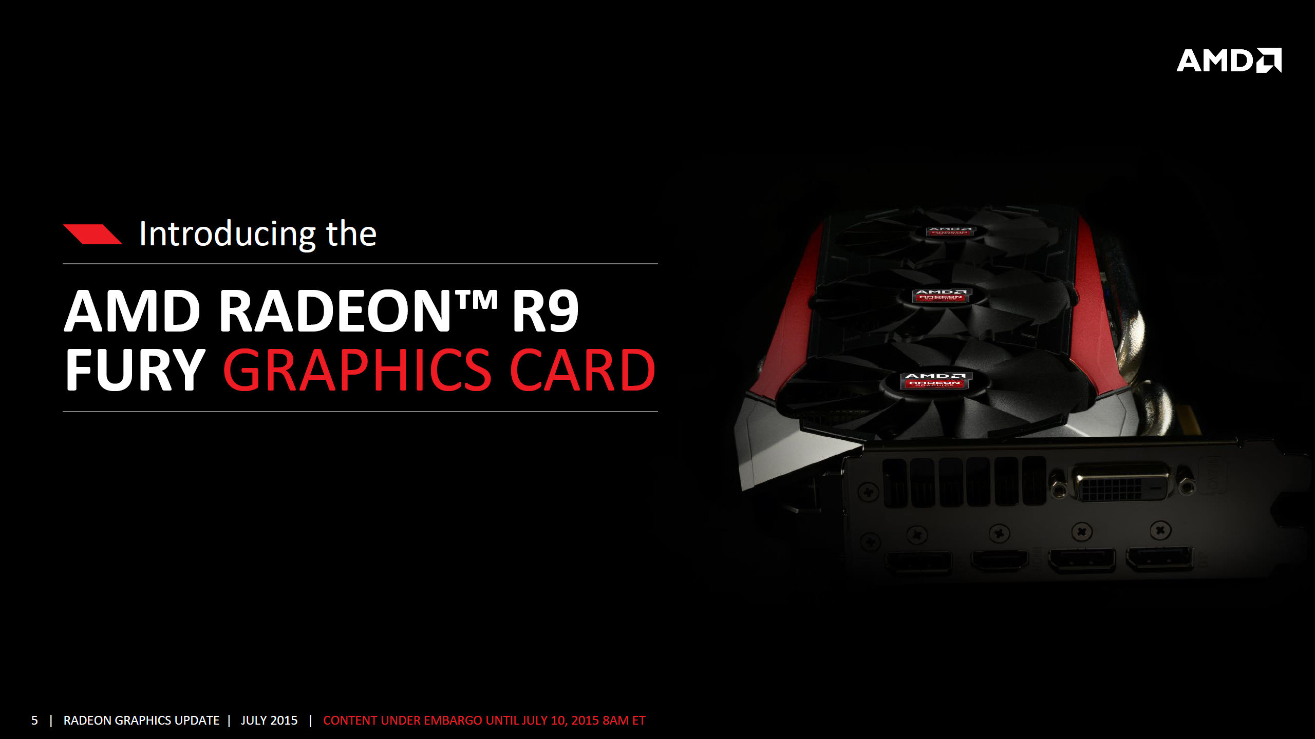 AMD Radeon R9 Fury With Fiji Pro GPU Officially Launched .
