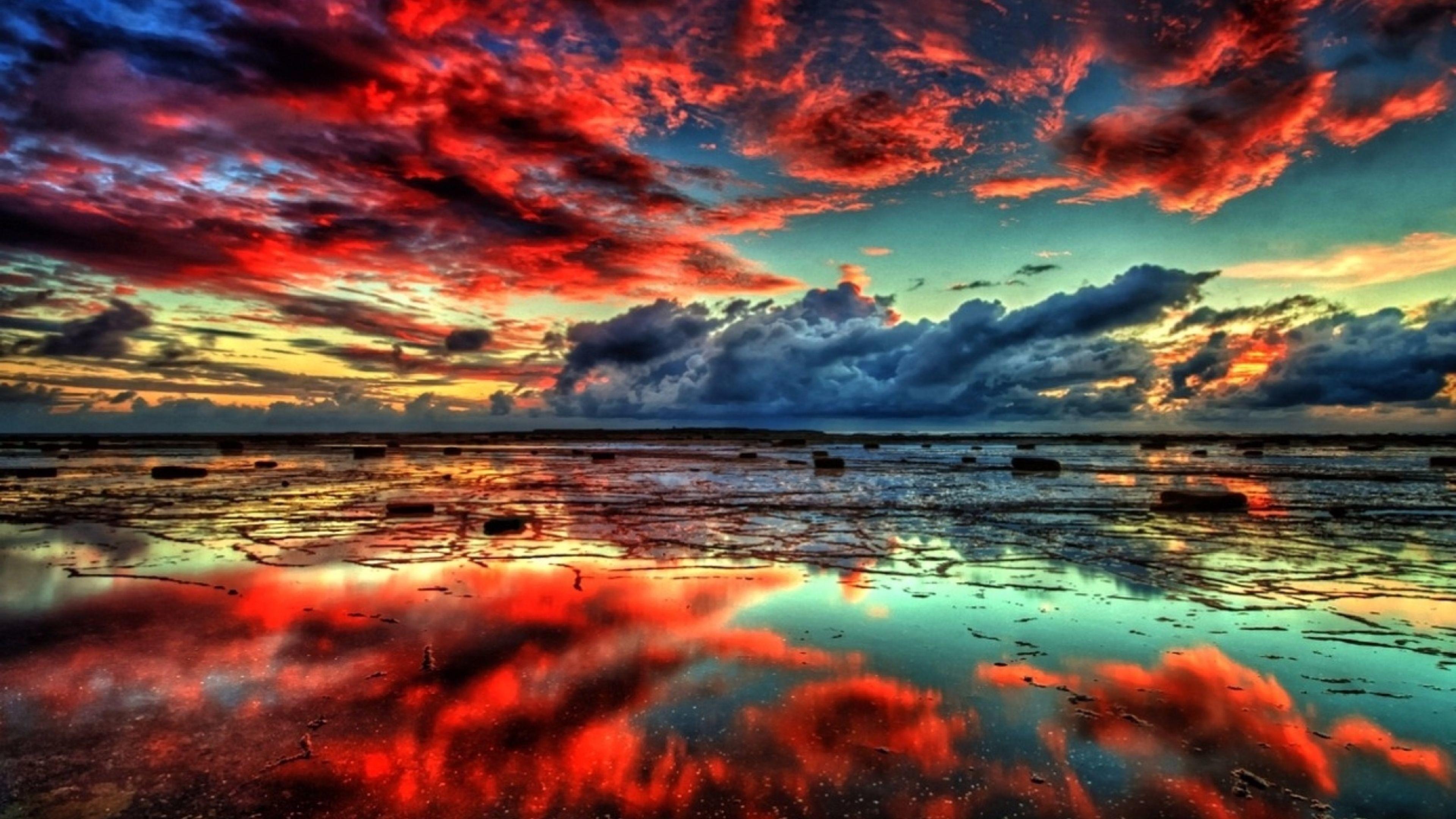 Wallpapers 4k Wallpaper Nature Red Clouds 4K   Free Widescreen Hd wallpaper  nature …