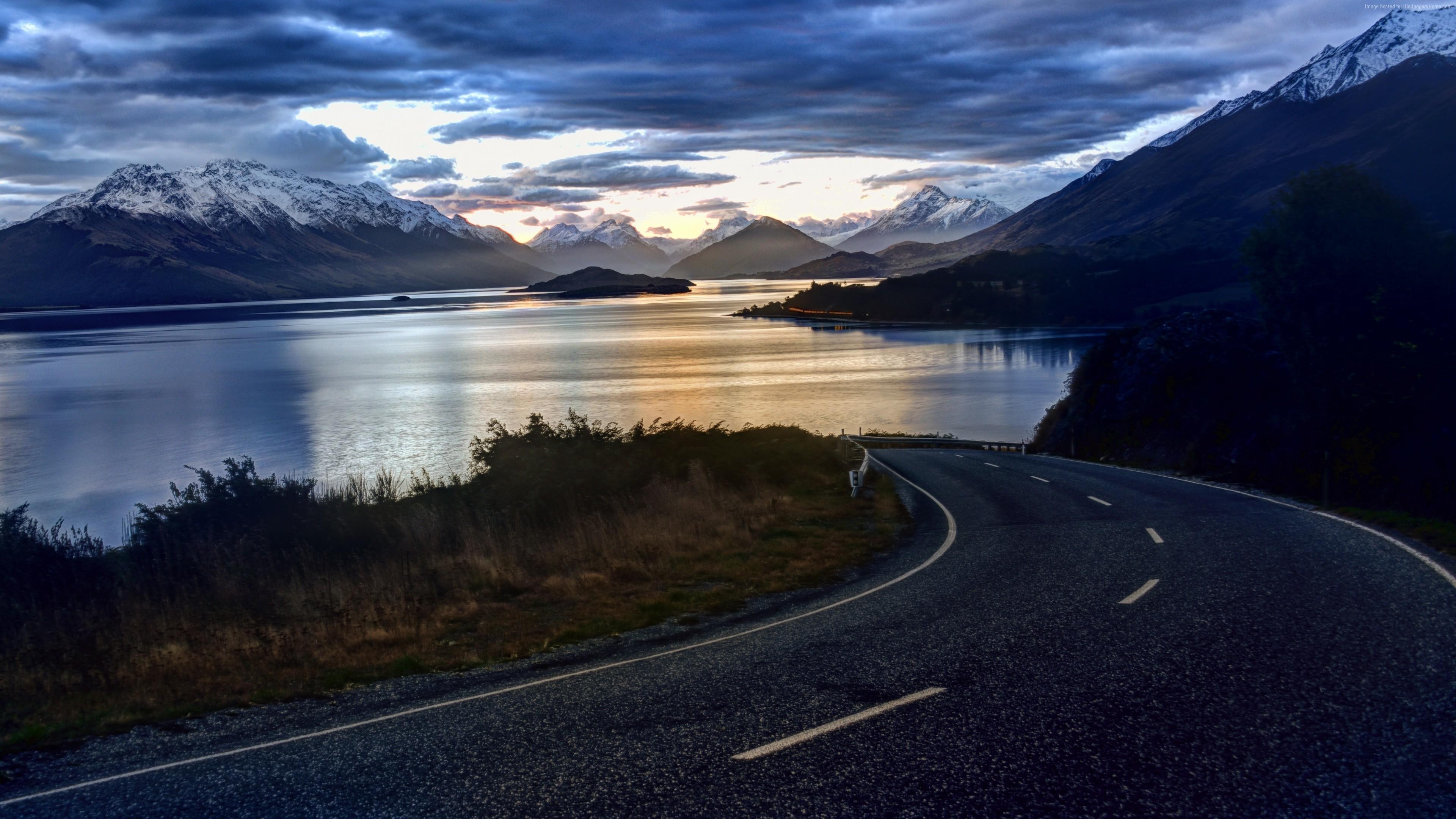 New Zealand, 4k, HD wallpaper, nature, sky, clouds, lake, …