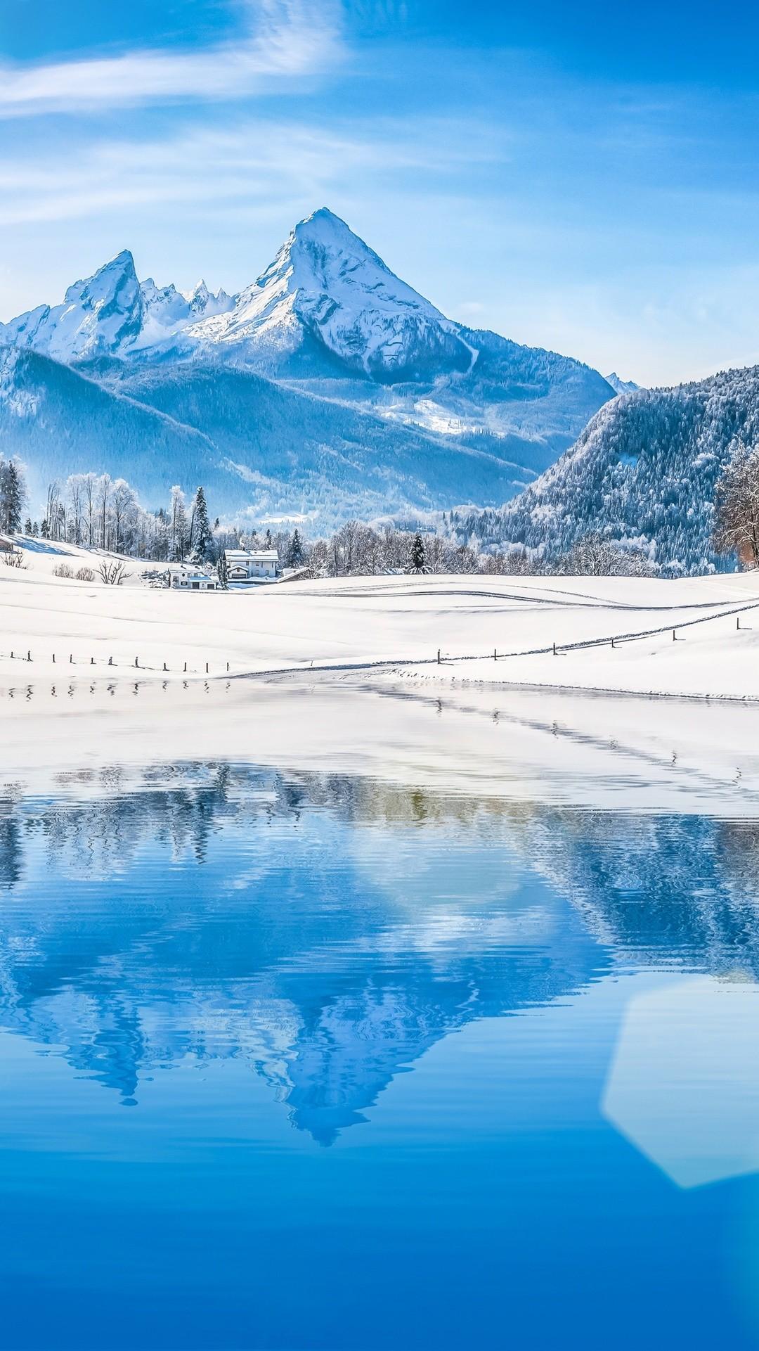 Landscape 4K Ultra HD Wallpaper | … landscape with blue lake 4K Ultra HD