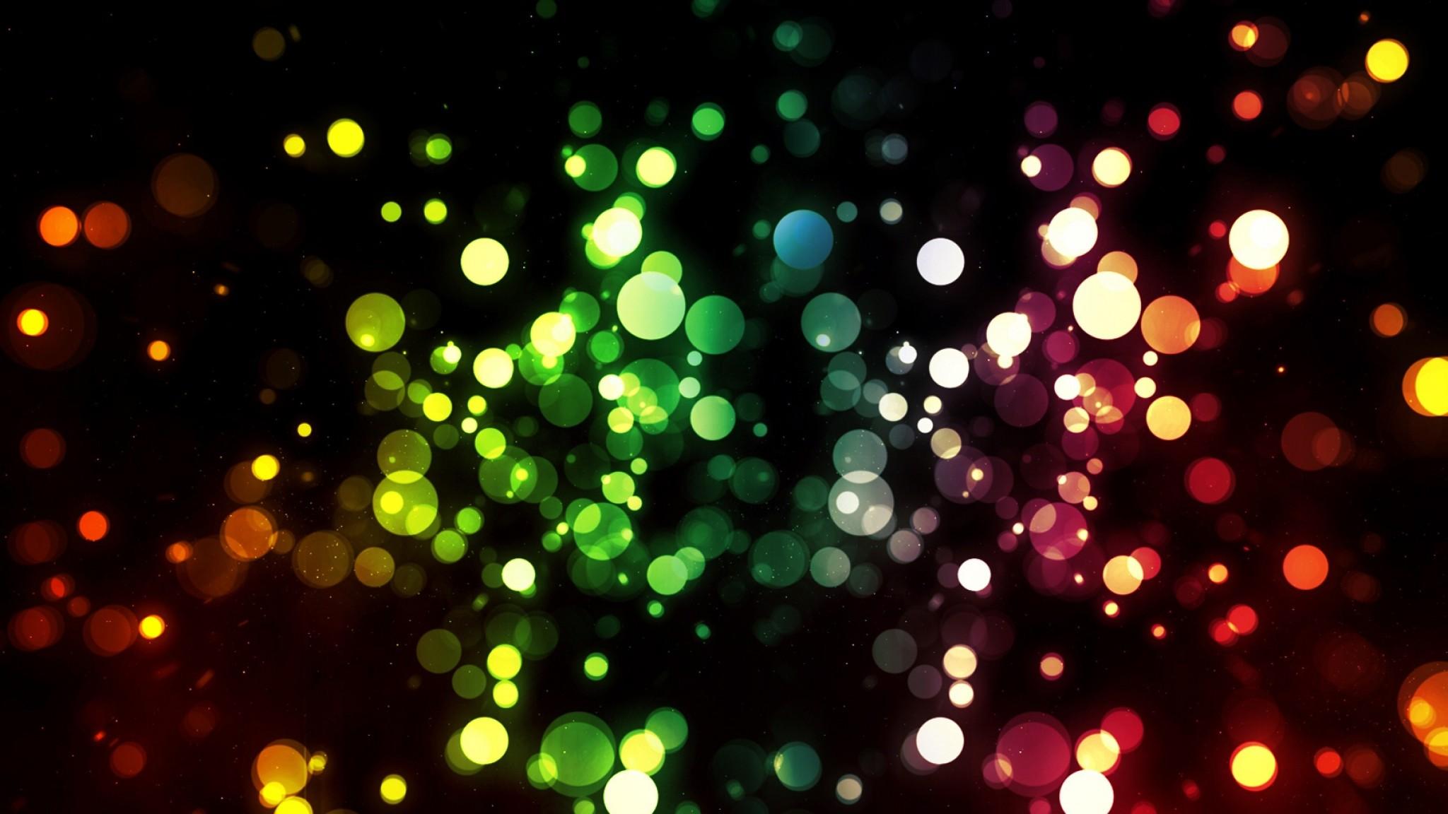 Wallpaper pixels, colorful, circles