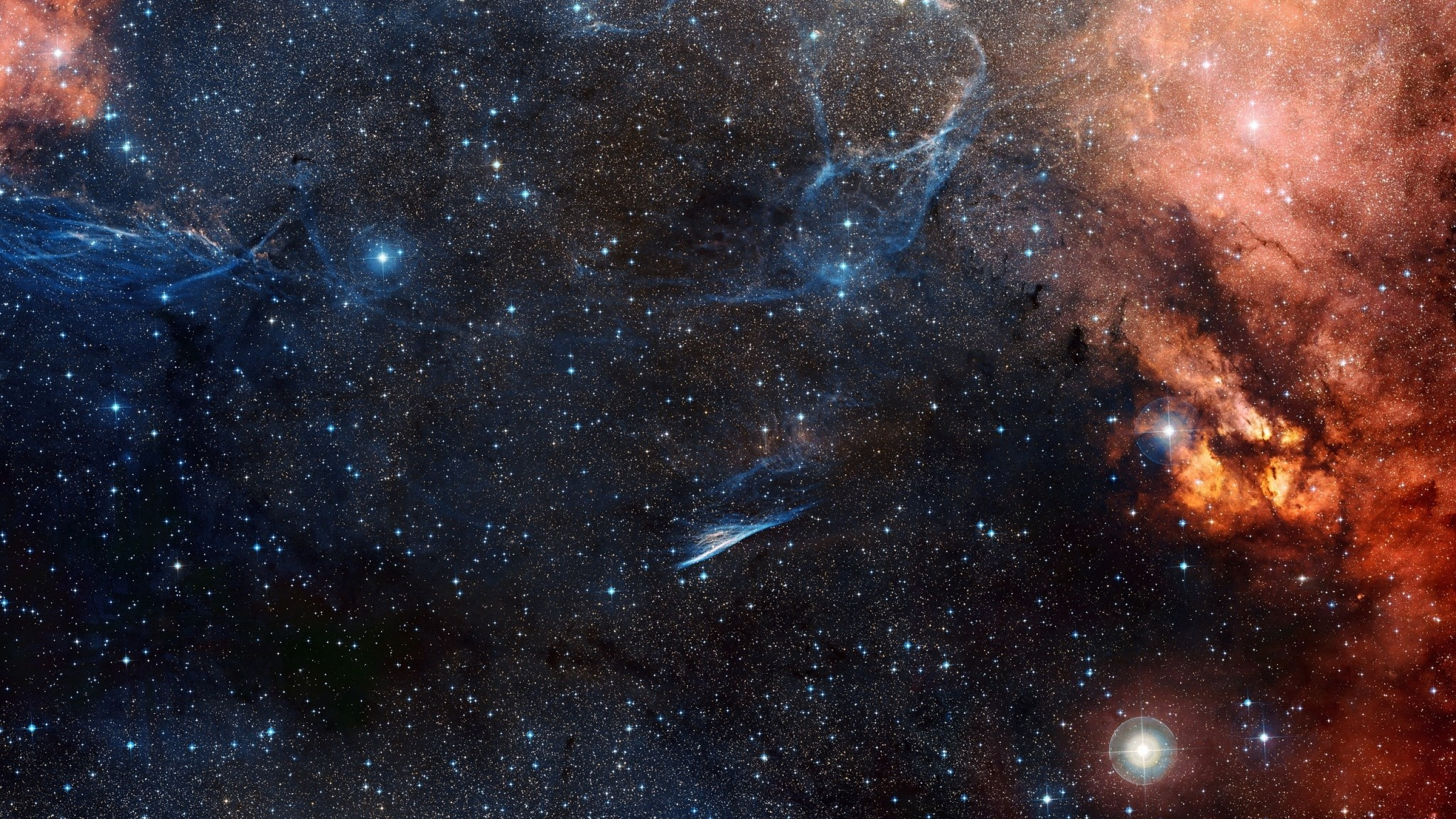 Preview wallpaper space, sky, stars 2048×1152