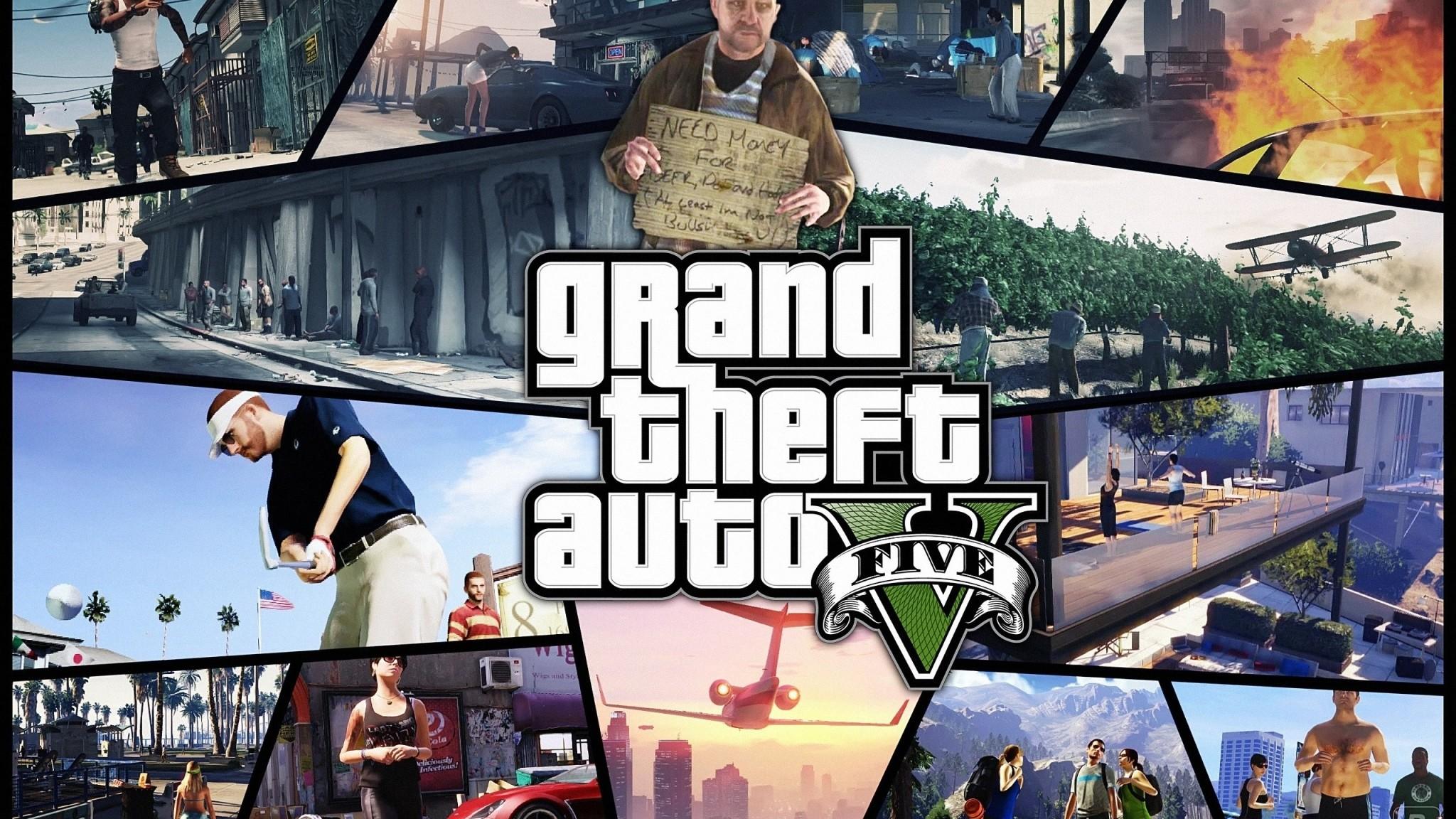 Preview wallpaper gta, grand theft auto 5, photos, shots, game 2048×1152