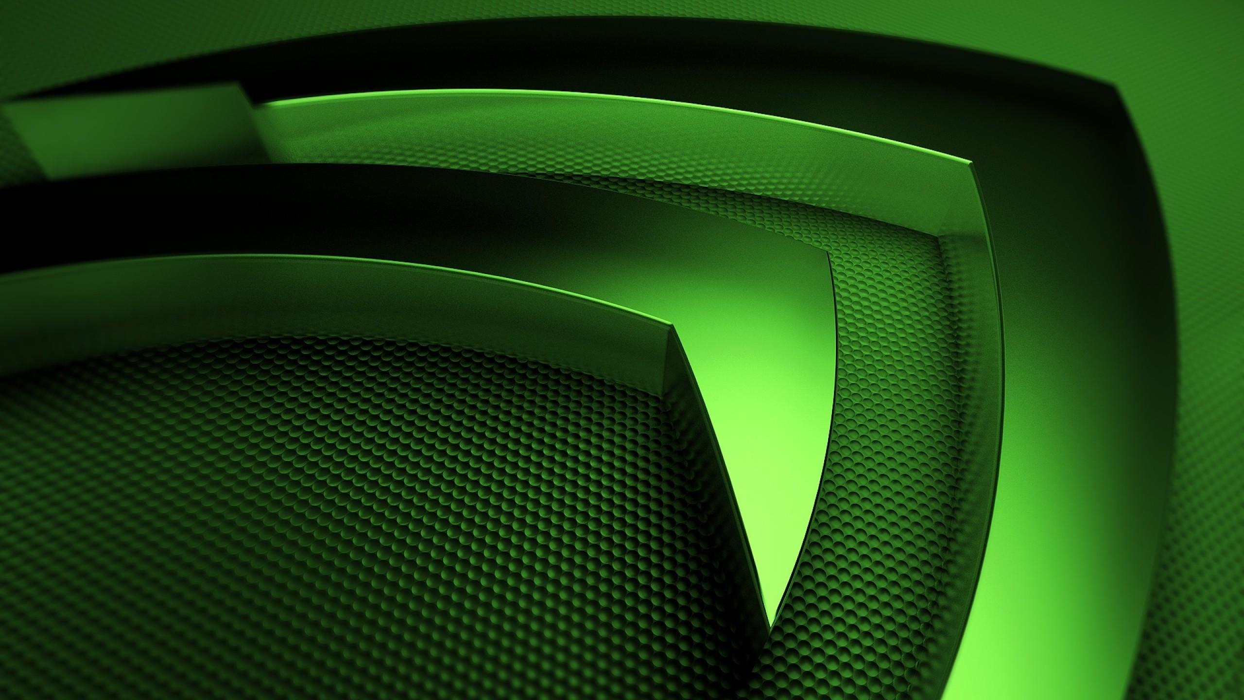 Preview wallpaper nvidia, green, symbol 2560×1440