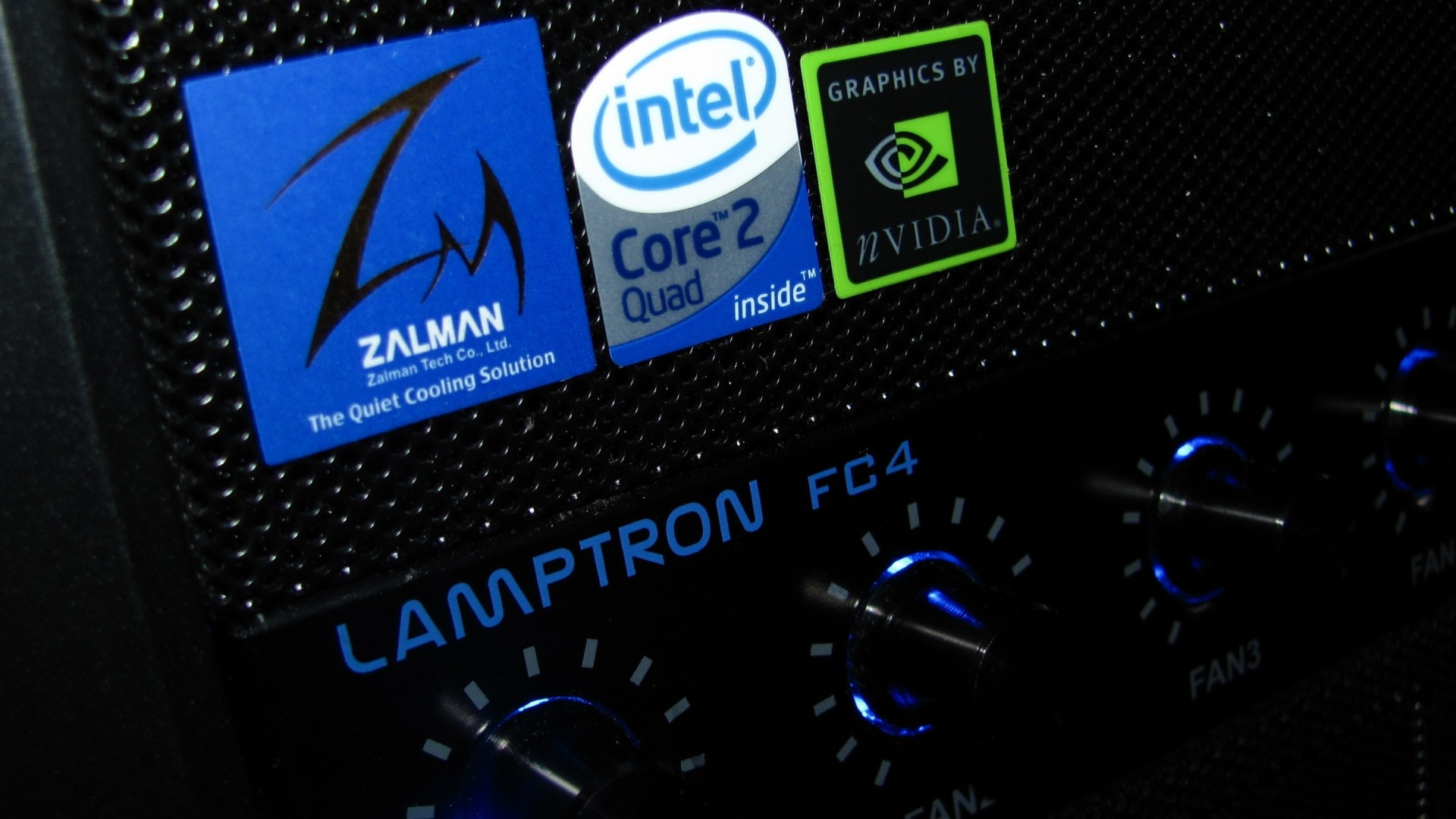 Wallpaper zalman, core 2 quad, computer, system unit, nvidia