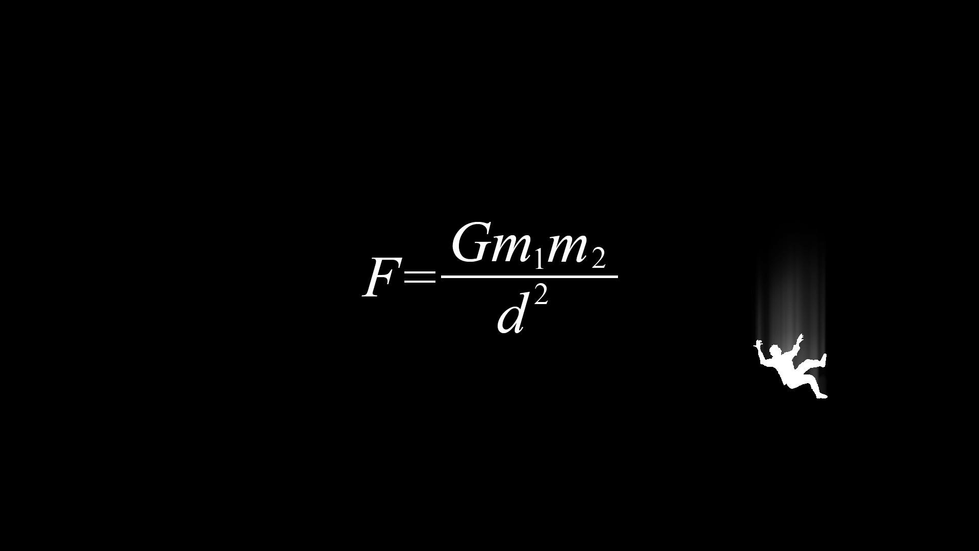 Physics Gravity Formula Wallpaper HD
