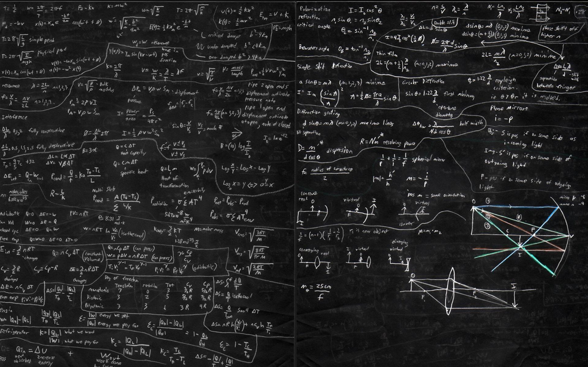 Lectures Mathematics on Chalkboard HD Wallpaper Desktop .