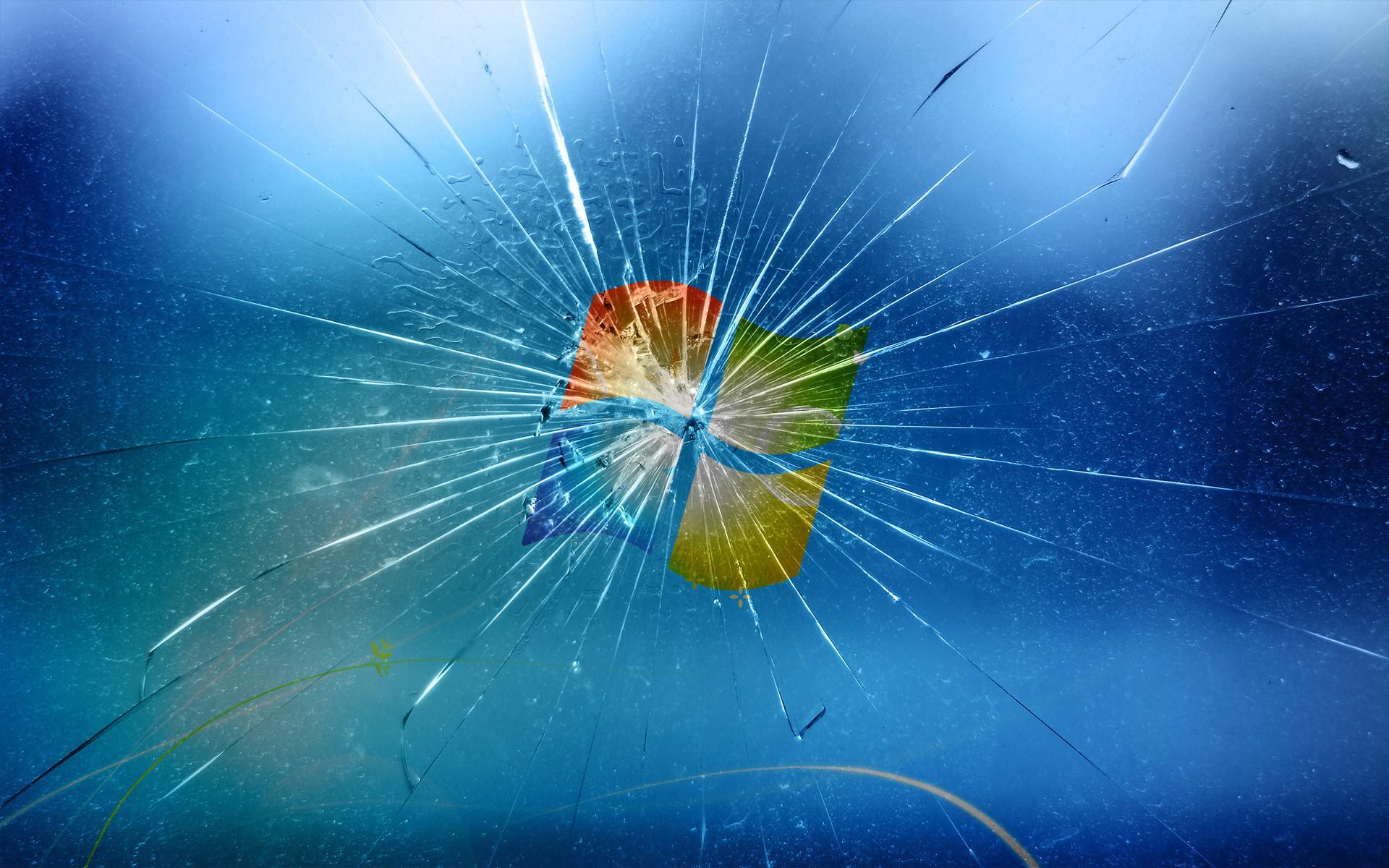 Broken Windows 7 Screen Wallpapers Photo
