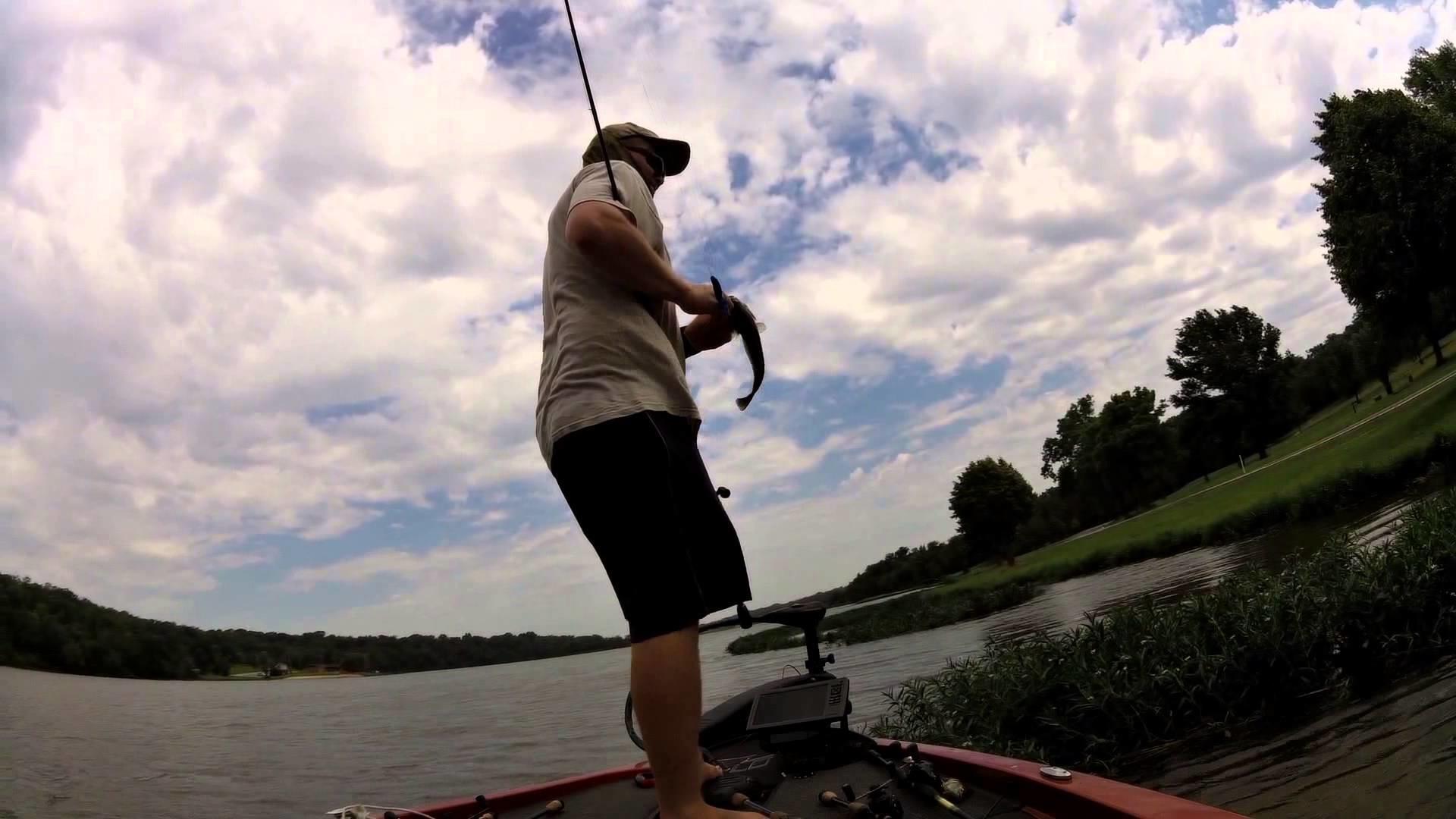 Olathe Lake bass fishing 7/1/15