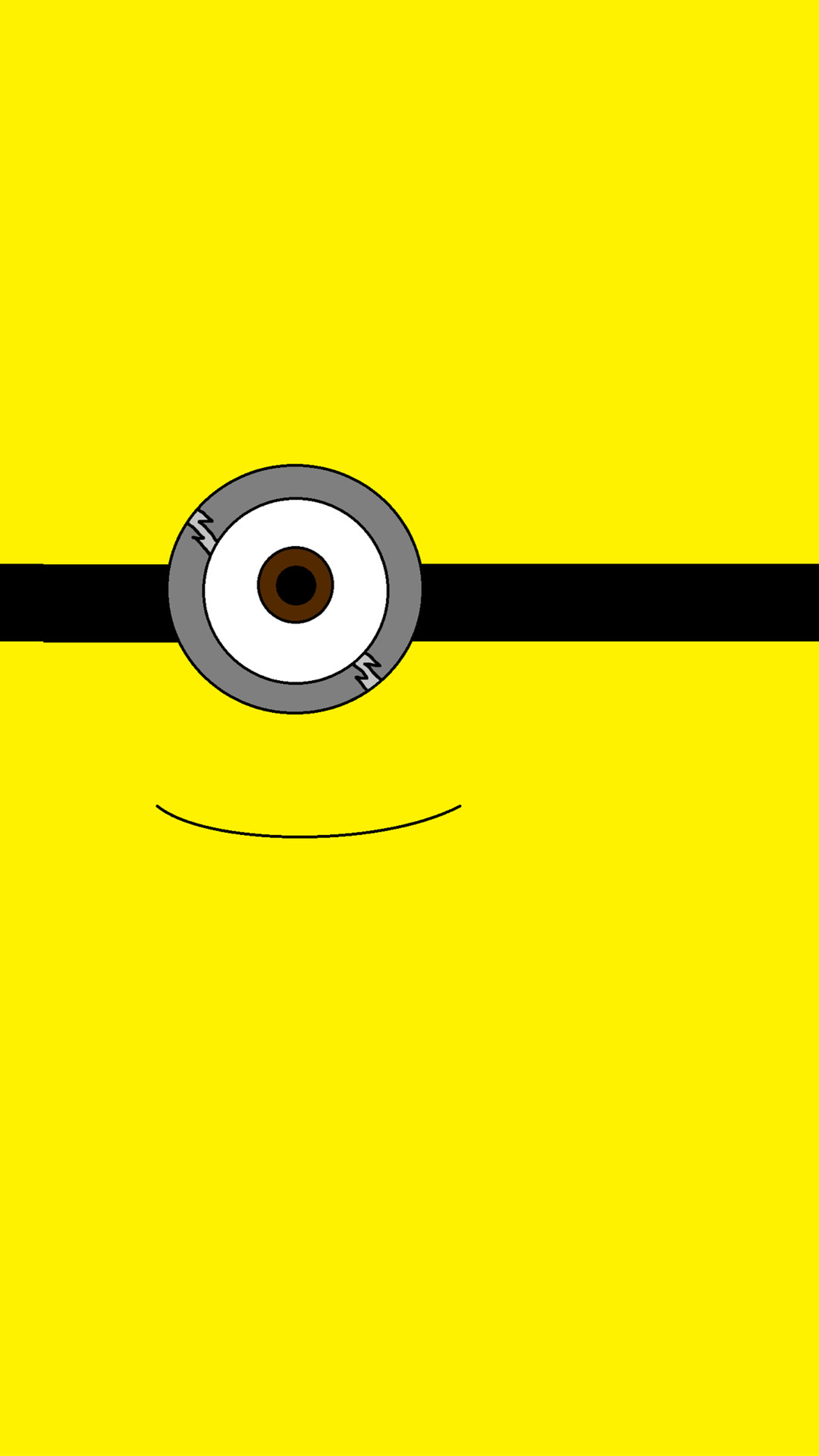 2014 Halloween all yellow one big eye minion iphone 6 plus wallpaper –  Despicable Me iphone